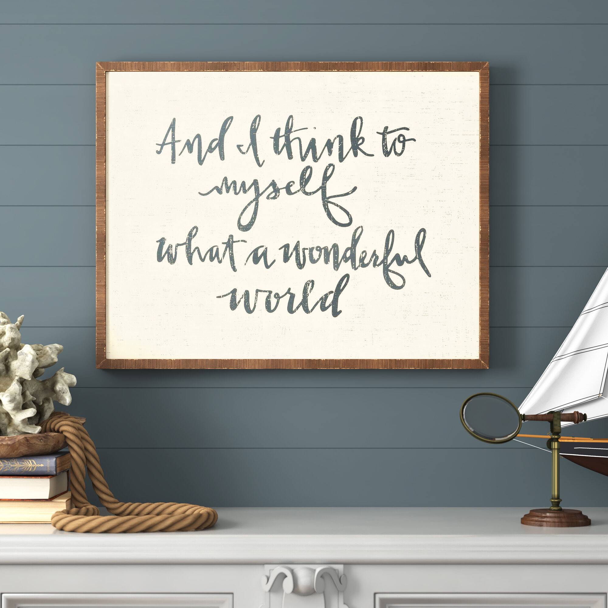 And I Think To Myself What A Wonderful World Wall Decor in Wonderful World Wall Decor (Image 3 of 30)