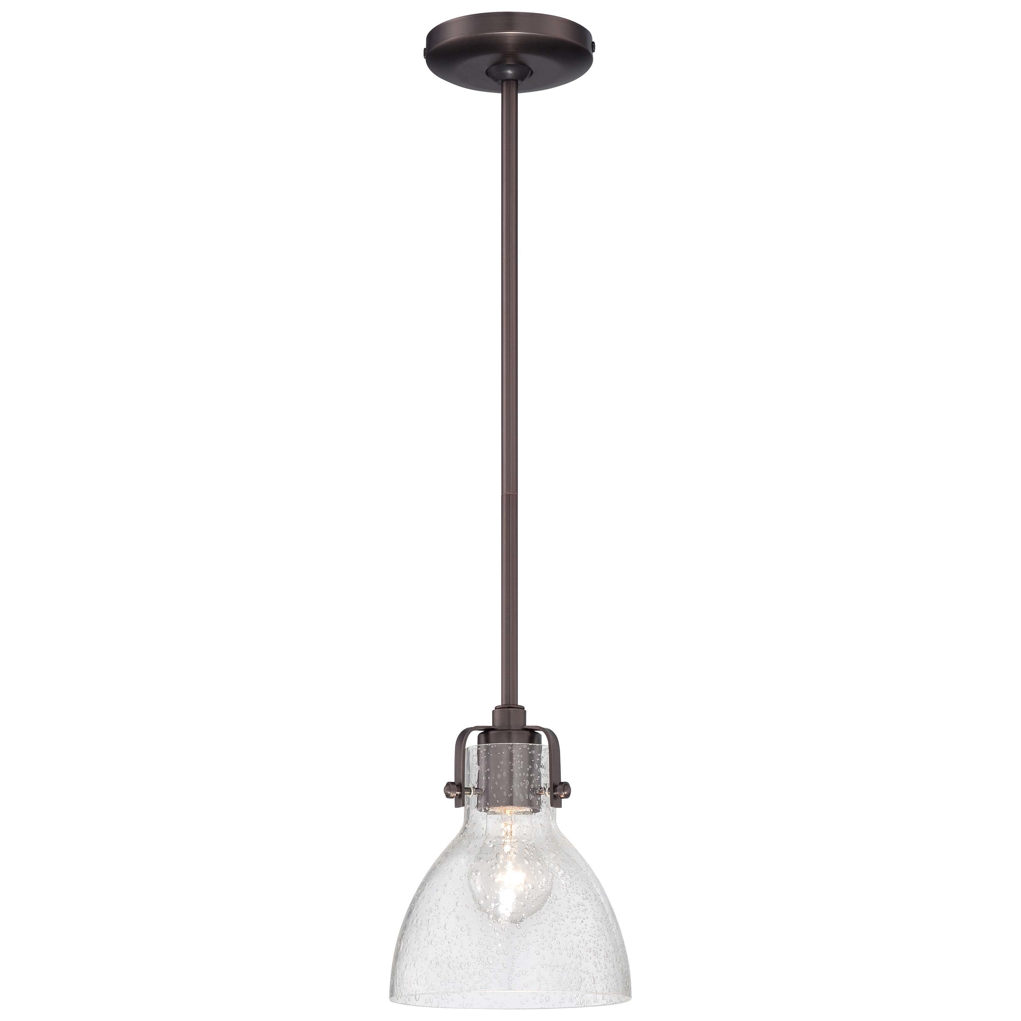 Andover Mills Goldie 1-Light Single Bell Pendant in Akakios 1-Light Single Bell Pendants (Image 5 of 30)
