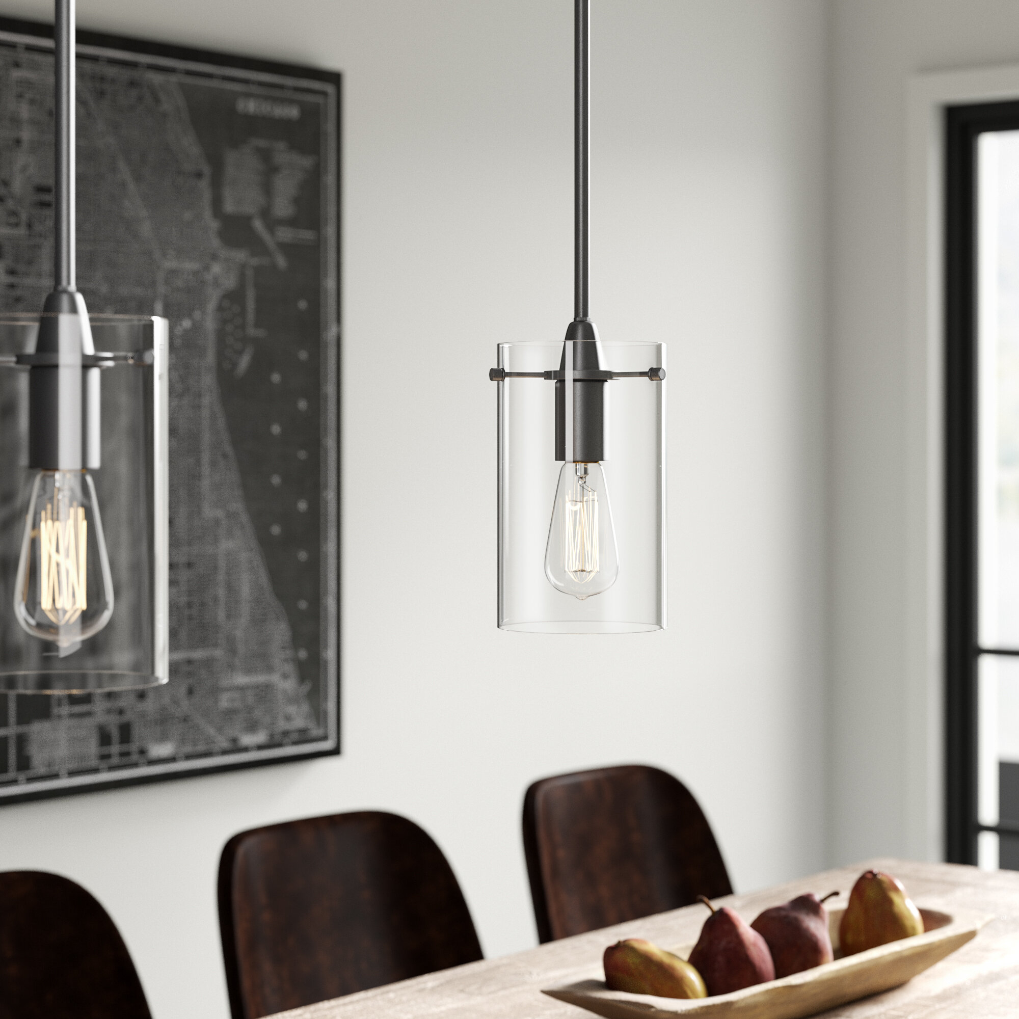 Angelina 1 Light Single Cylinder Pendant In Cinchring 1 Light Cone Pendants (View 5 of 30)