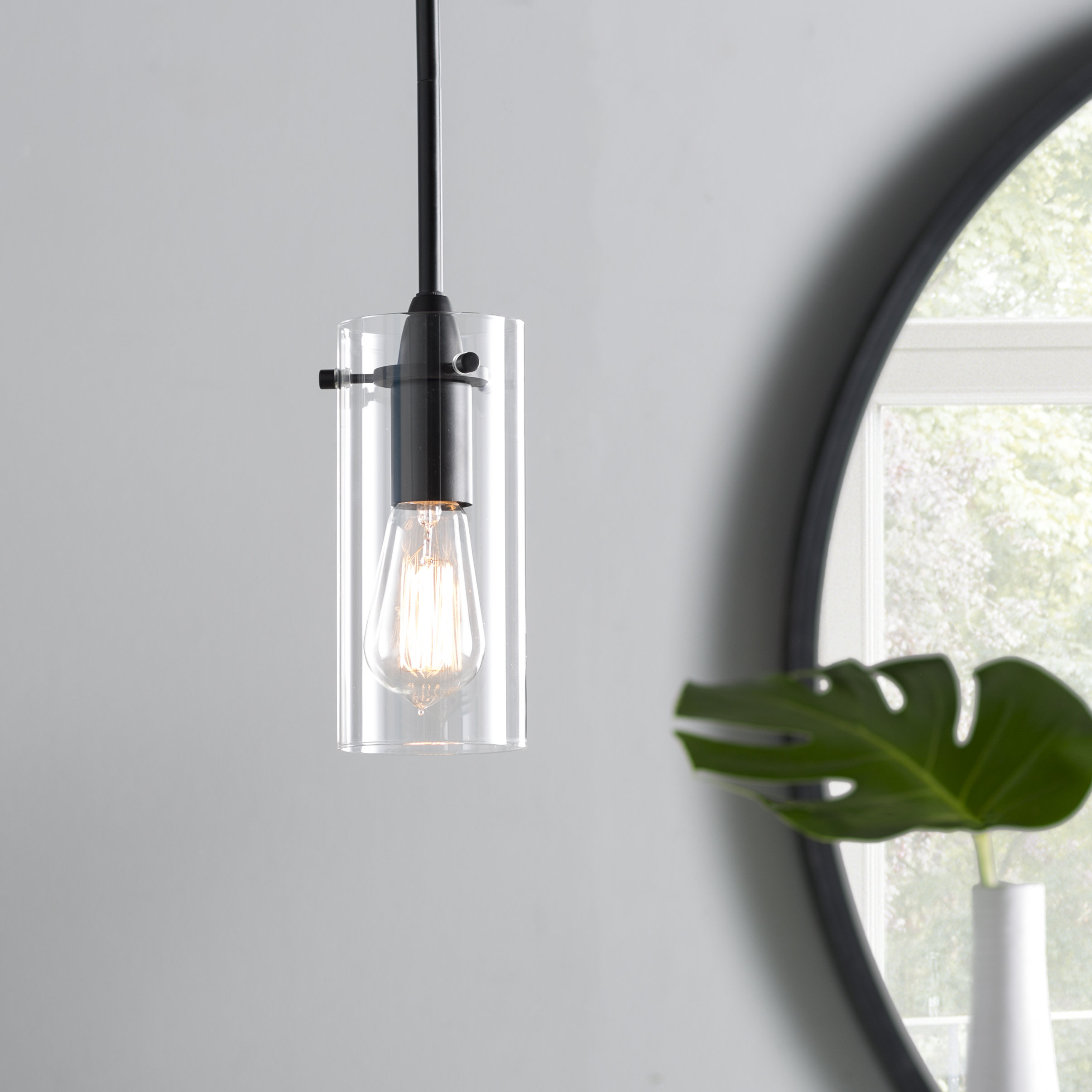 Angelina 1 Light Single Cylinder Pendant Within Guro 1 Light Cone Pendants (View 2 of 30)