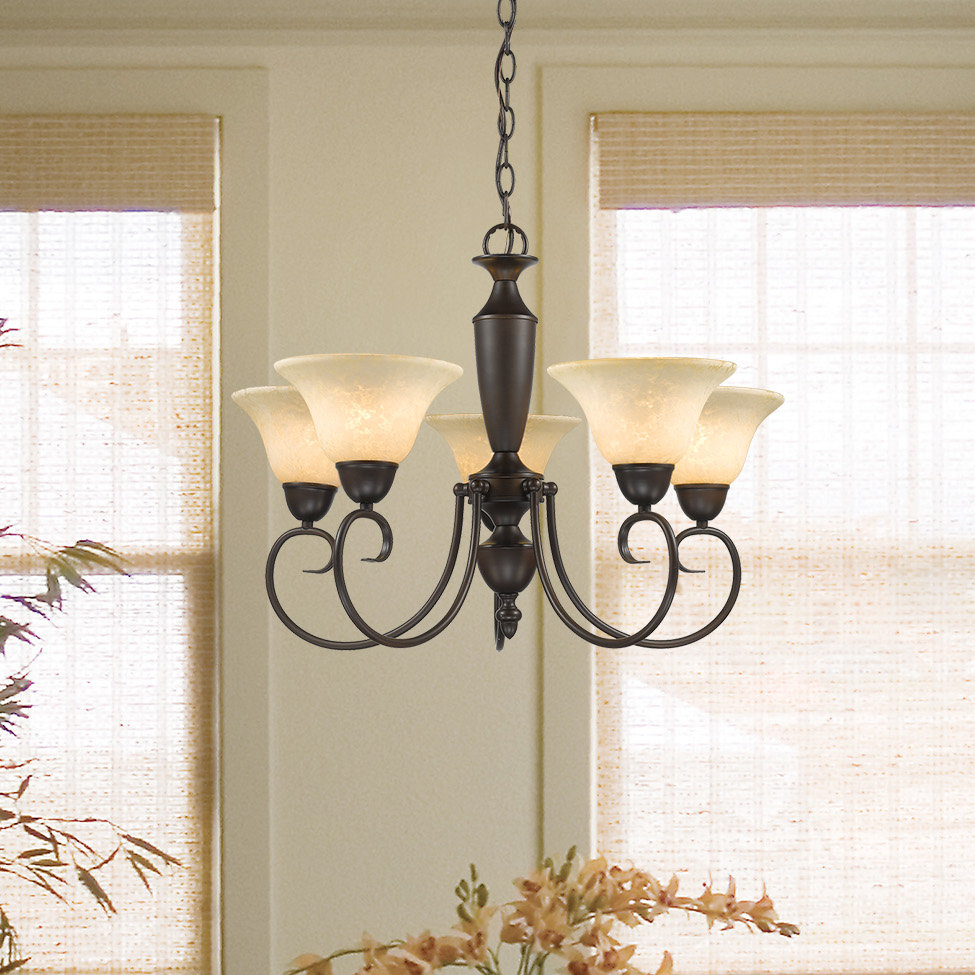 Annabelle 5 Light Chandelier Pertaining To Gaines 5 Light Shaded Chandeliers (View 10 of 30)