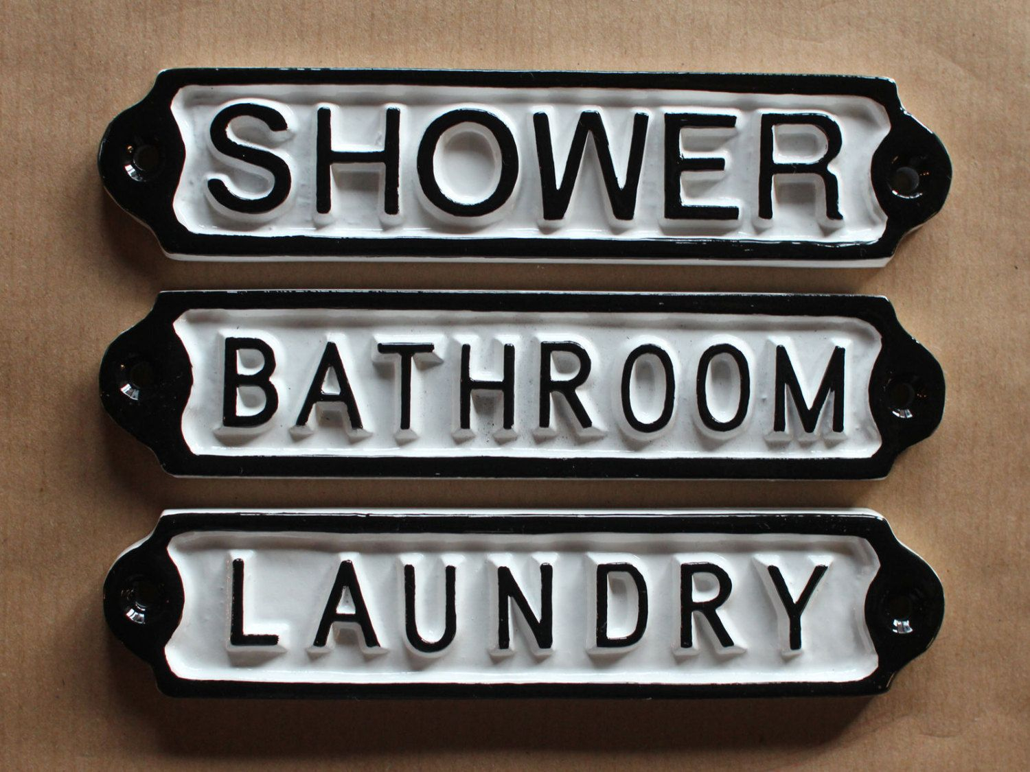 Antique Bathroom | Shower | Laundry Door Signs Shabby Chic Regarding Personalized Mint Distressed Vintage Look Laundry Metal Sign Wall Decor (View 14 of 30)