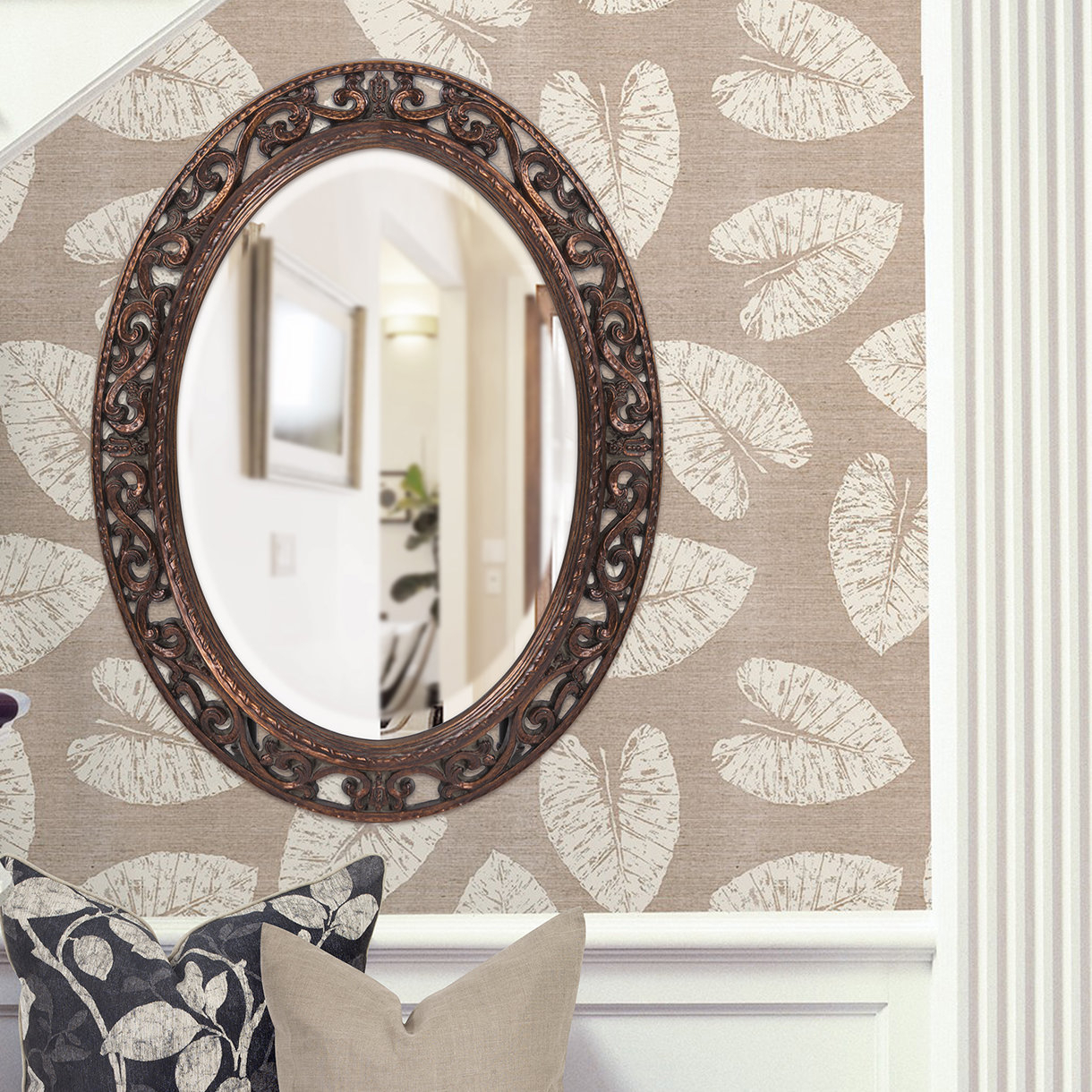 Antique Bronze Accent Mirror | Wayfair In Brynn Accent Mirrors (View 4 of 30)