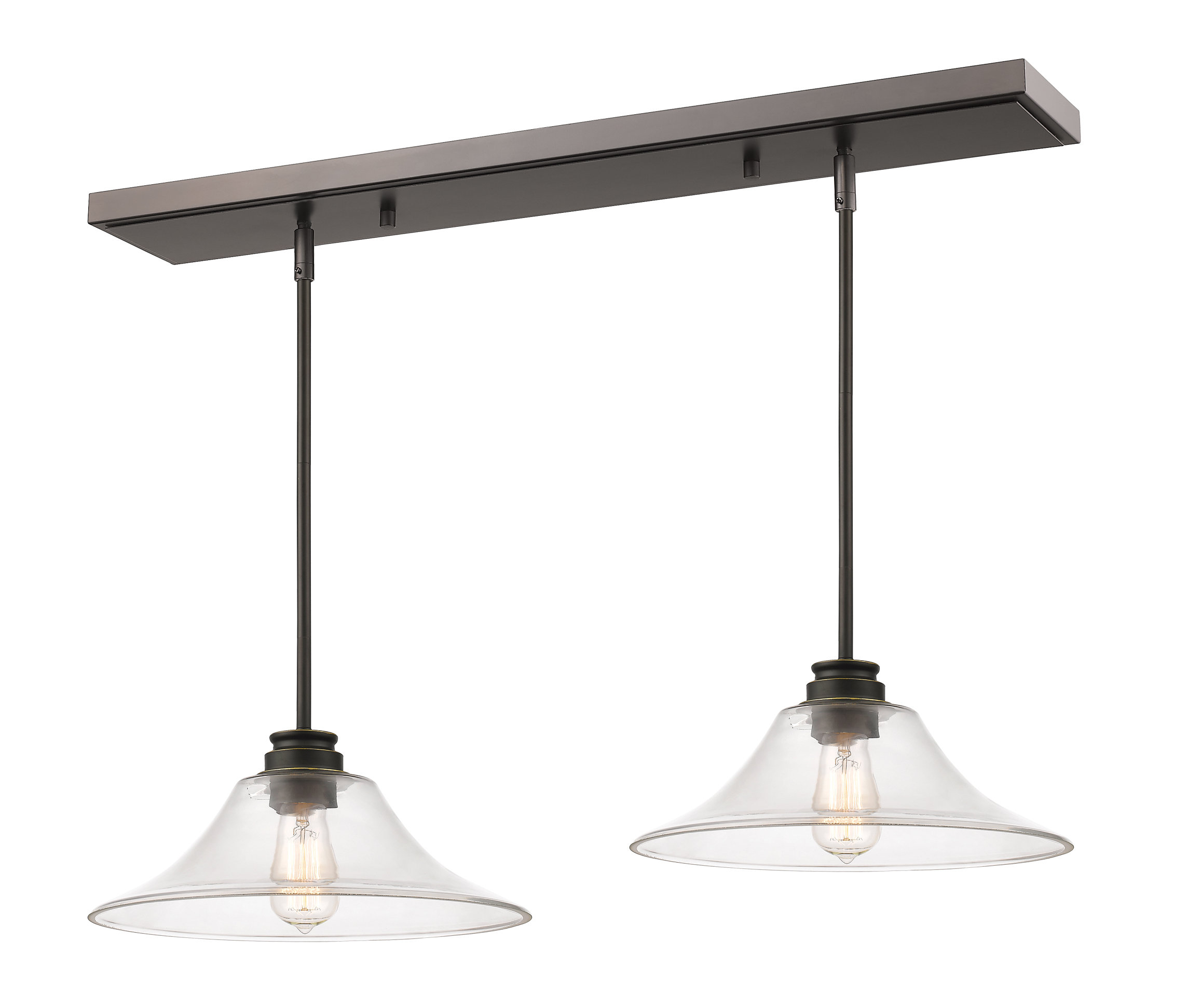 Antique Bronze Island Lights You'll Love In 2019 | Wayfair.ca within Ariel 2-Light Kitchen Island Dome Pendants (Image 6 of 30)