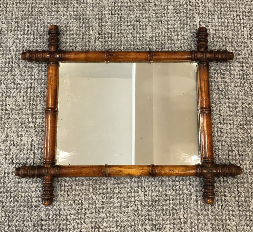 Antique French Faux Bamboo Wall Mirror | 593271 Intended For Faux Window Wood Wall Mirrors (View 23 of 30)