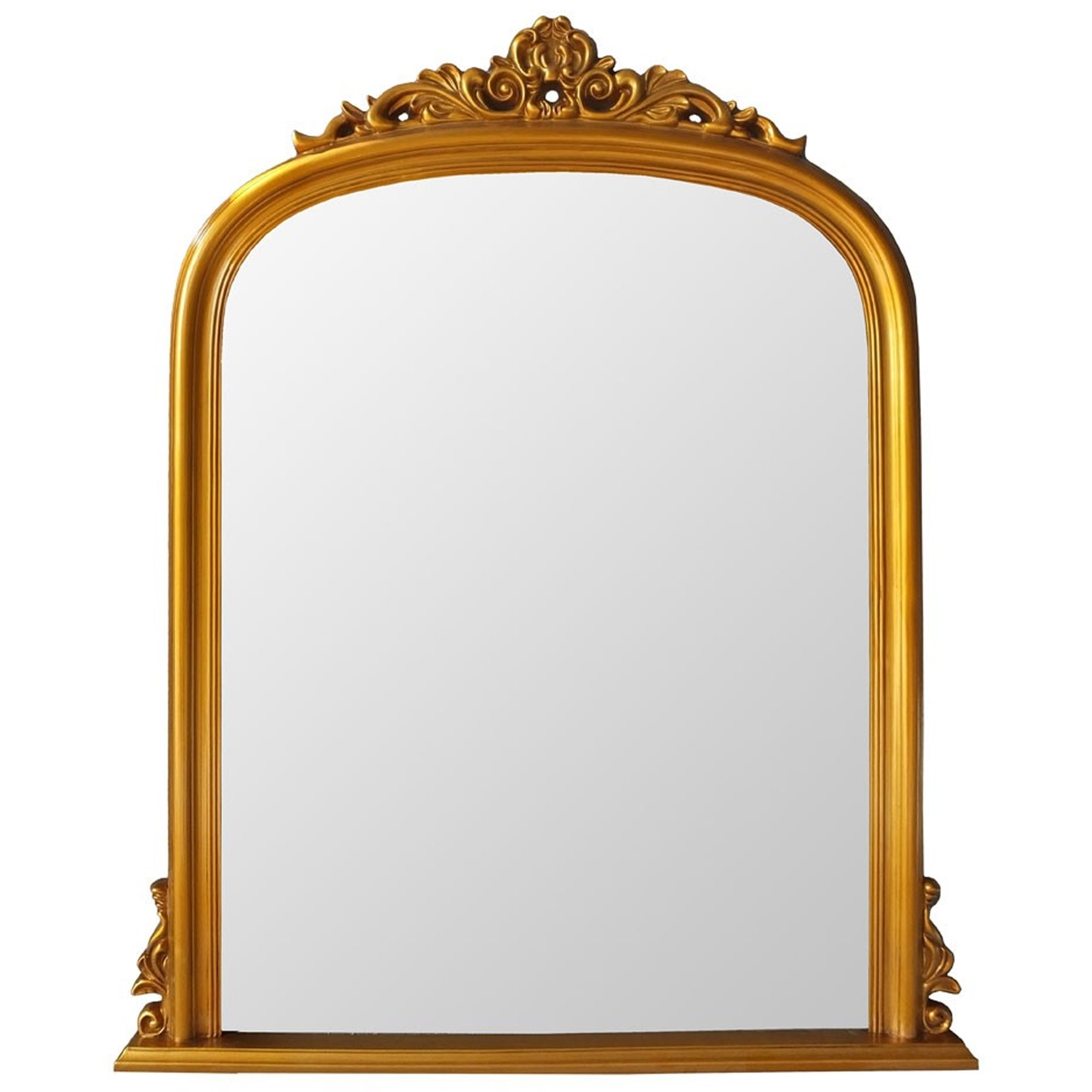 Antique French Style Gold Henrietta Wall Mirror In Gold Arch Wall Mirrors (View 4 of 30)