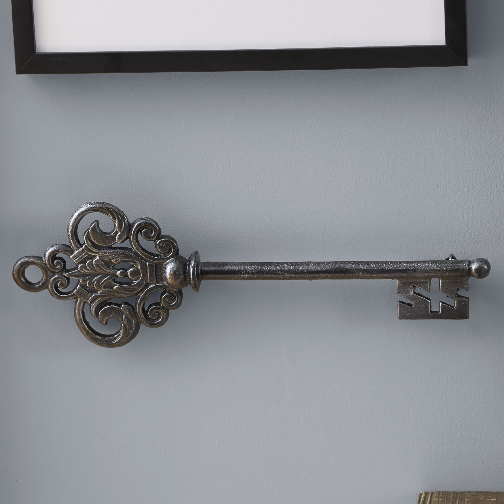 Featured Photo of Black Metal Key Wall Decor