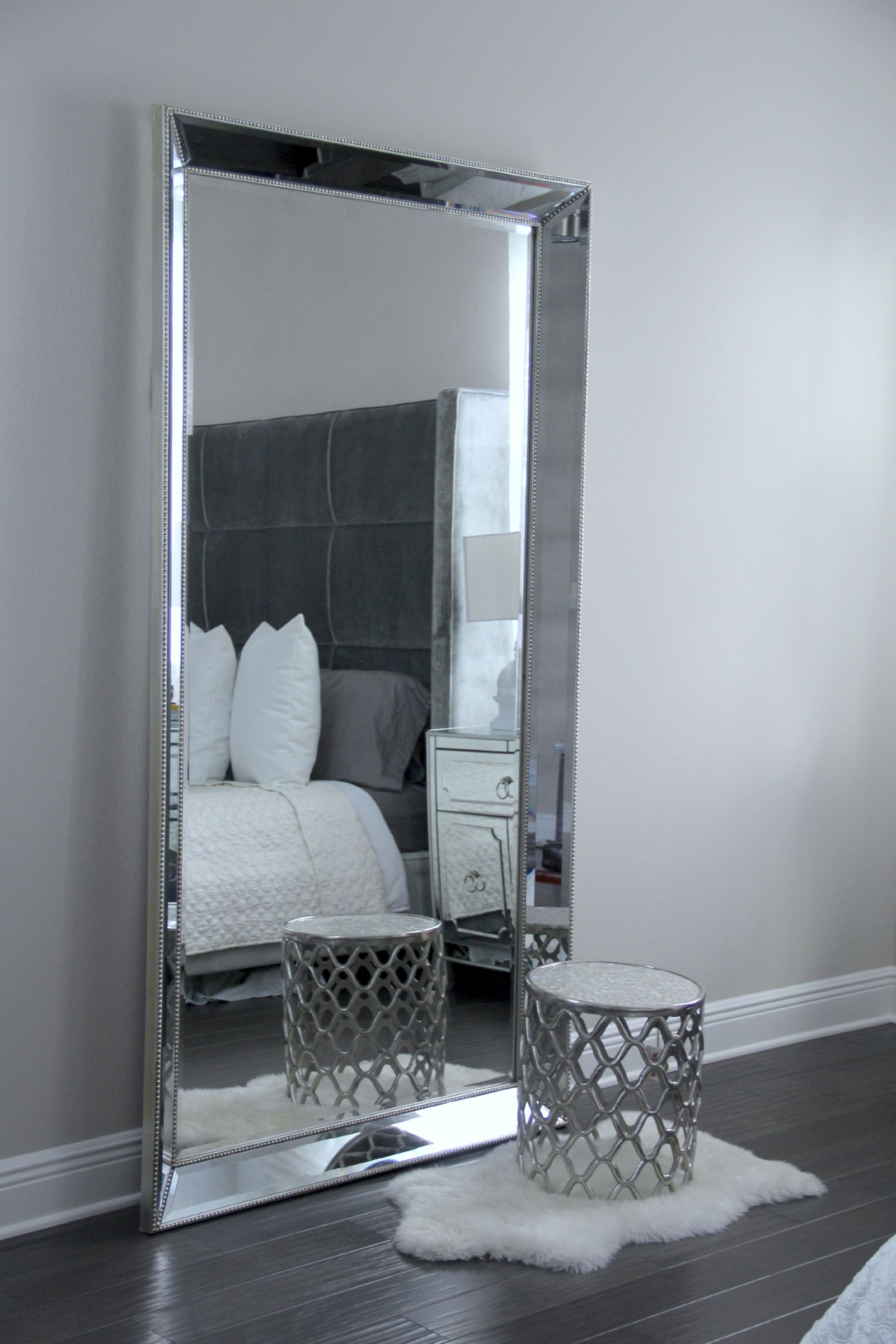 Antique Leaner Mirror For Your Room Decoration Ideas: Silver With Leaning Mirrors (View 7 of 30)