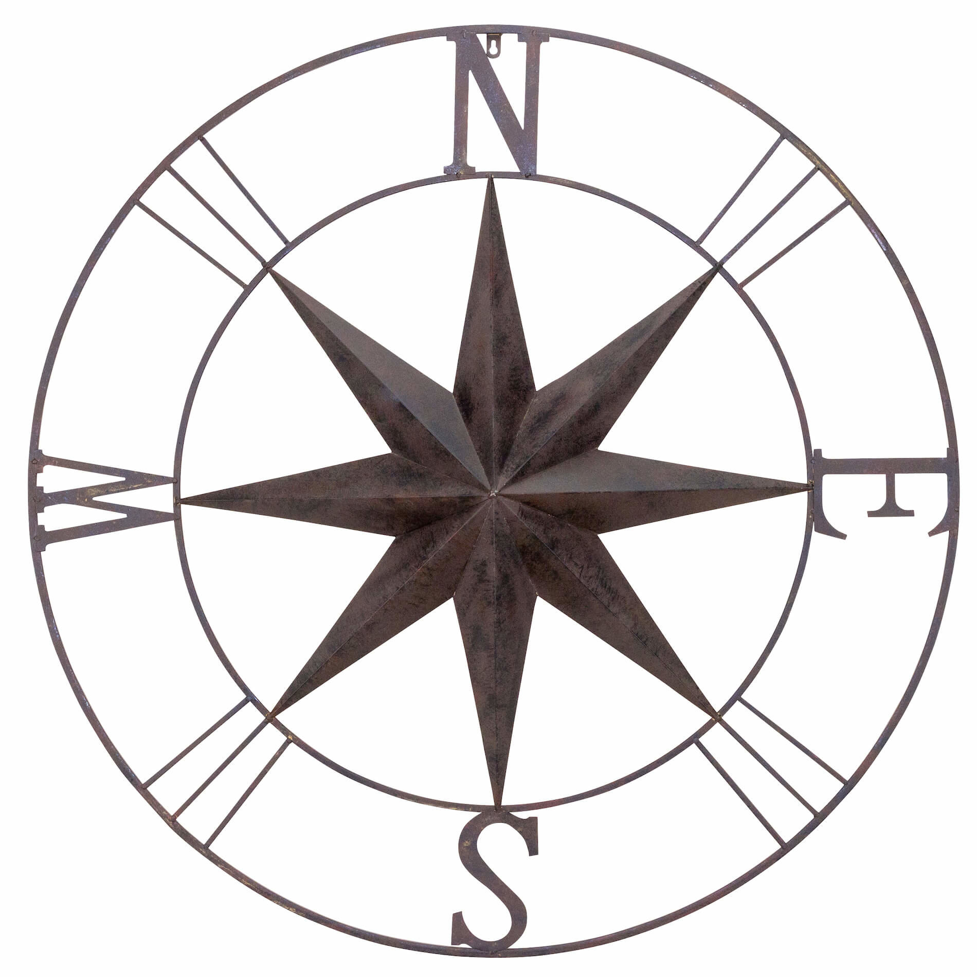 Antique Metal Compass Rose Wall Décor Within Rioux Birds On A Wire Wall Decor (View 23 of 30)