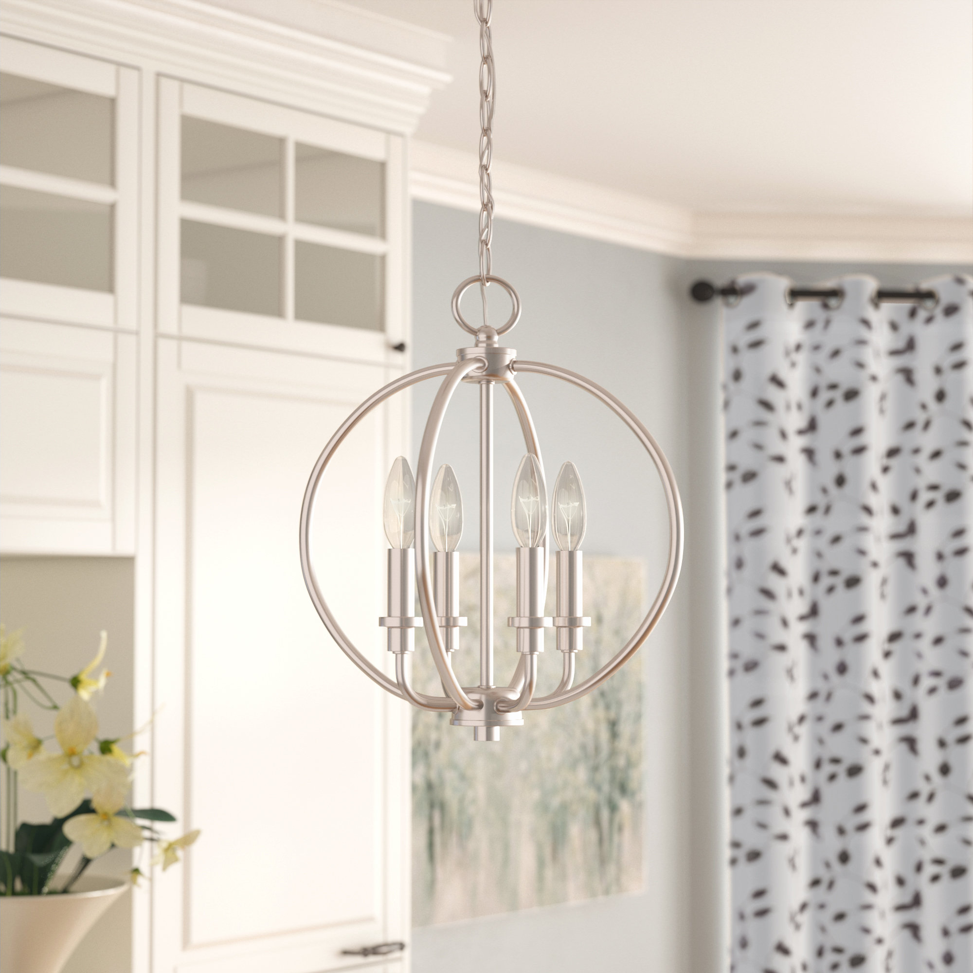 Antique Silver Leaf Chandelier You'll Love In 2019 | Wayfair intended for Cavanagh 4-Light Geometric Chandeliers (Image 1 of 30)