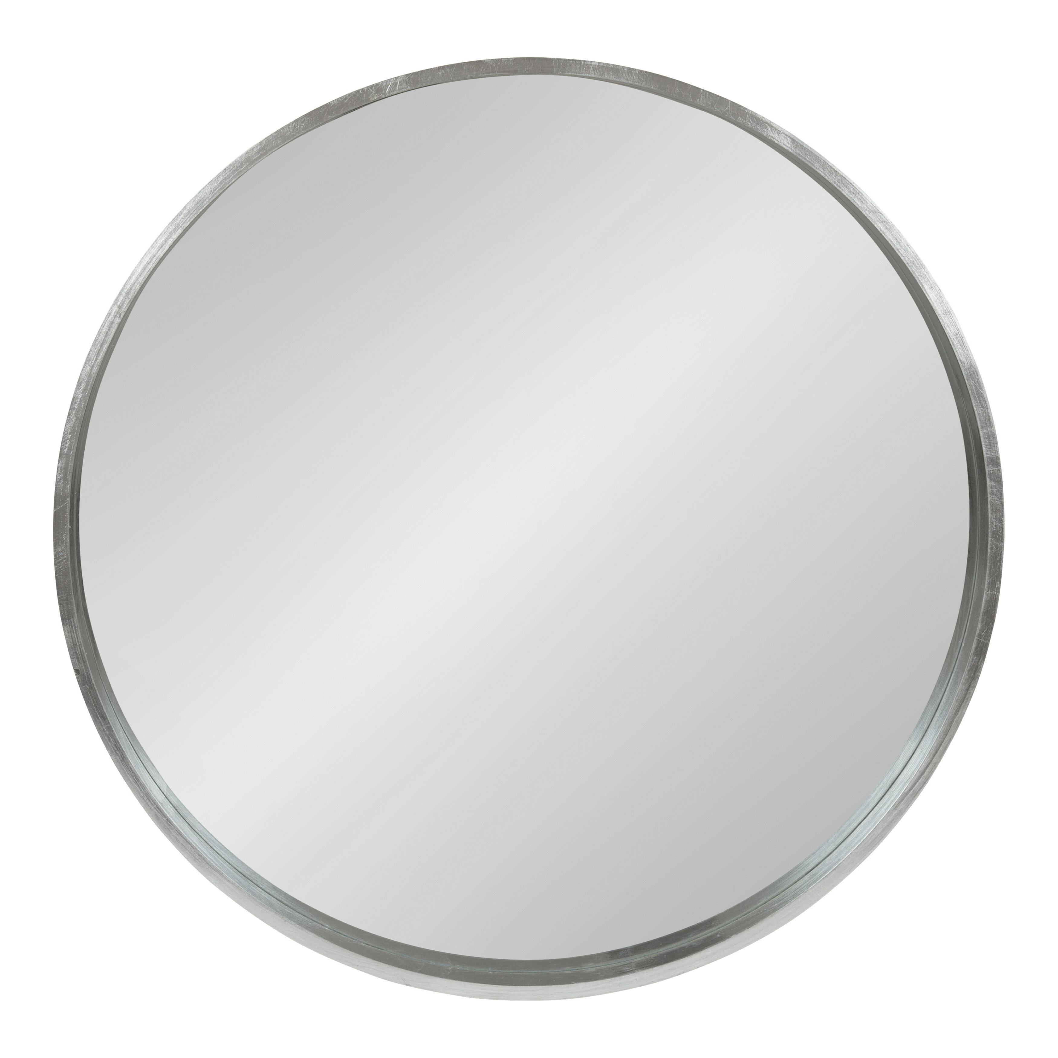Antique Silver Wall Mirror | Wayfair for Swagger Accent Wall Mirrors (Image 1 of 30)