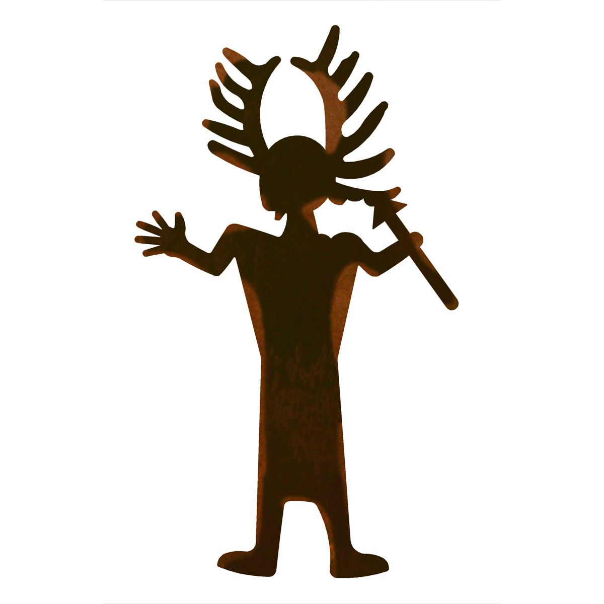 Antler Man Metal Wall Art For Brown Metal Tribal Arrow Wall Decor (View 22 of 30)