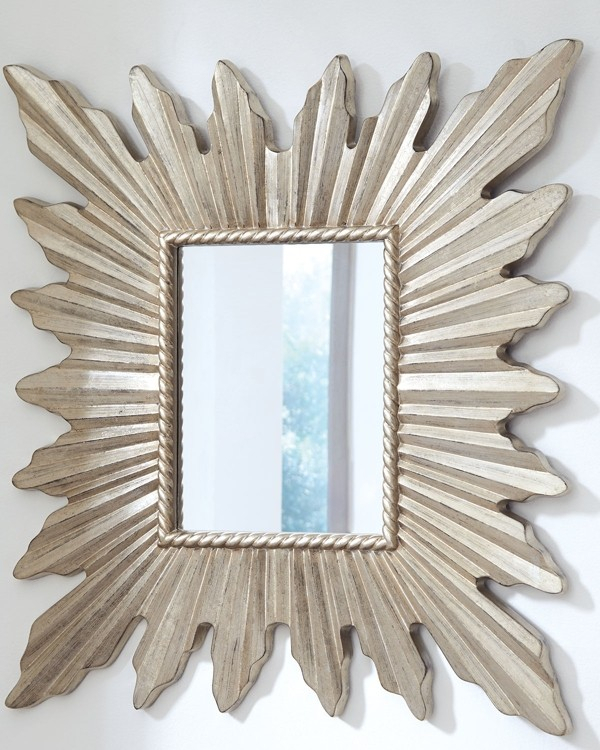 Antonia – Antique Silver Finish – Accent Mirror | A8010133 In Silver Frame Accent Mirrors (View 10 of 30)