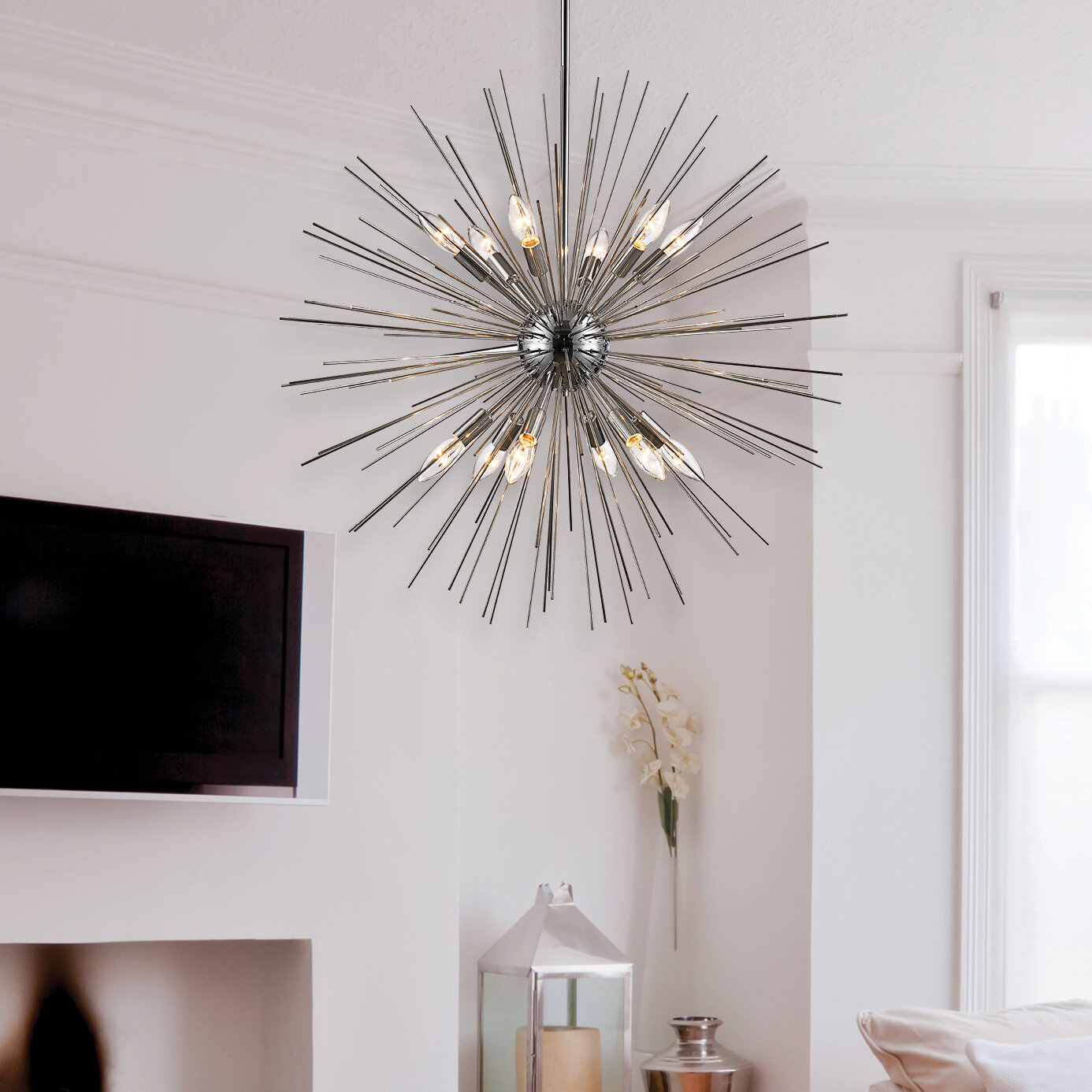 Antonie 12 Light Sputnik Chandelier With Regard To Corona 12 Light Sputnik Chandeliers (View 12 of 30)