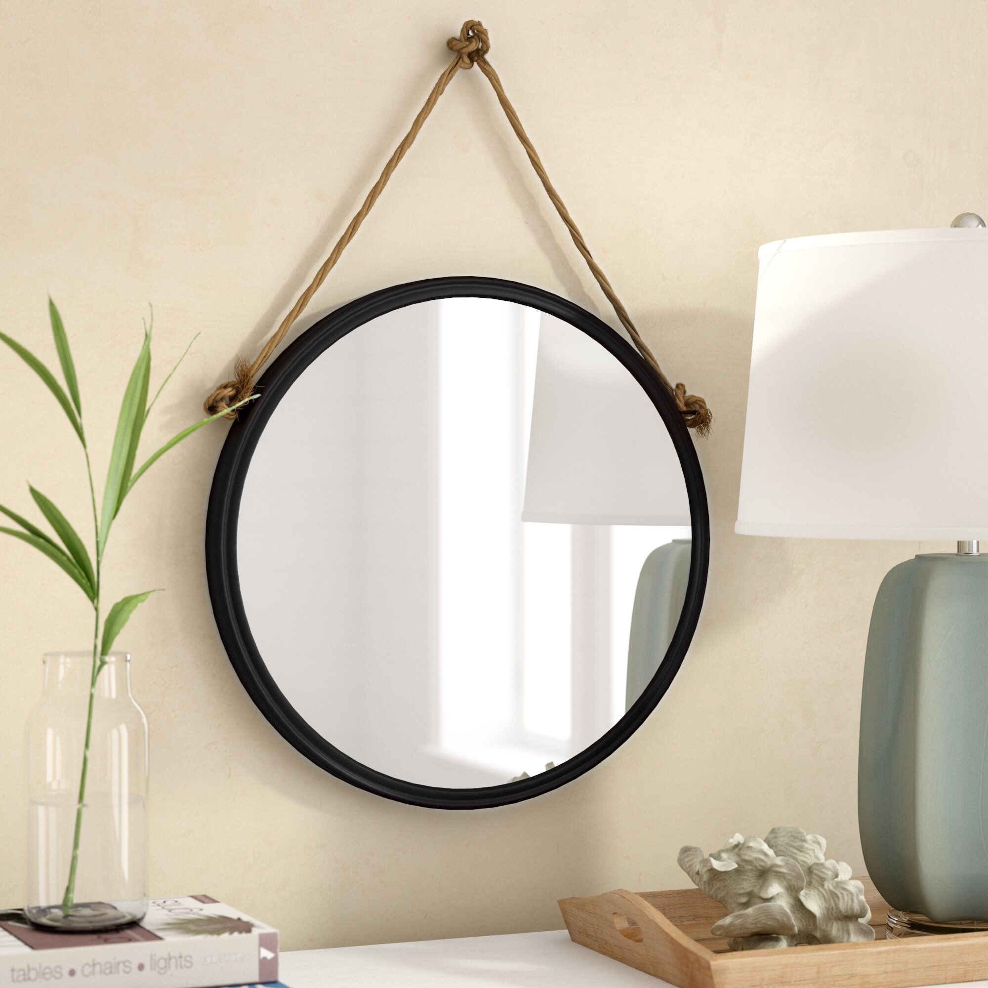 Anupam Hanging Traditional Beveled Distressed Accent Mirror in Rhein Accent Mirrors (Image 8 of 30)