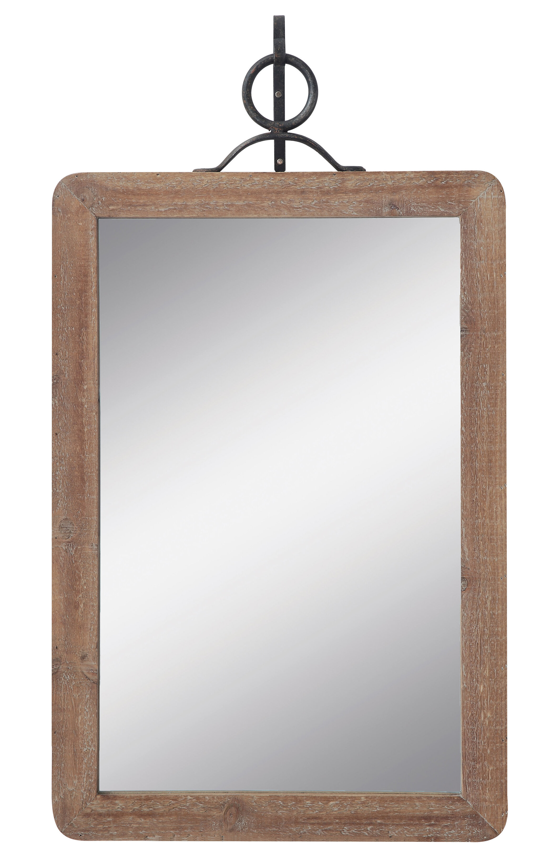 Anzell Large Wood Framed Rectangle Traditional Accent Mirror with Bartolo Accent Mirrors (Image 4 of 30)