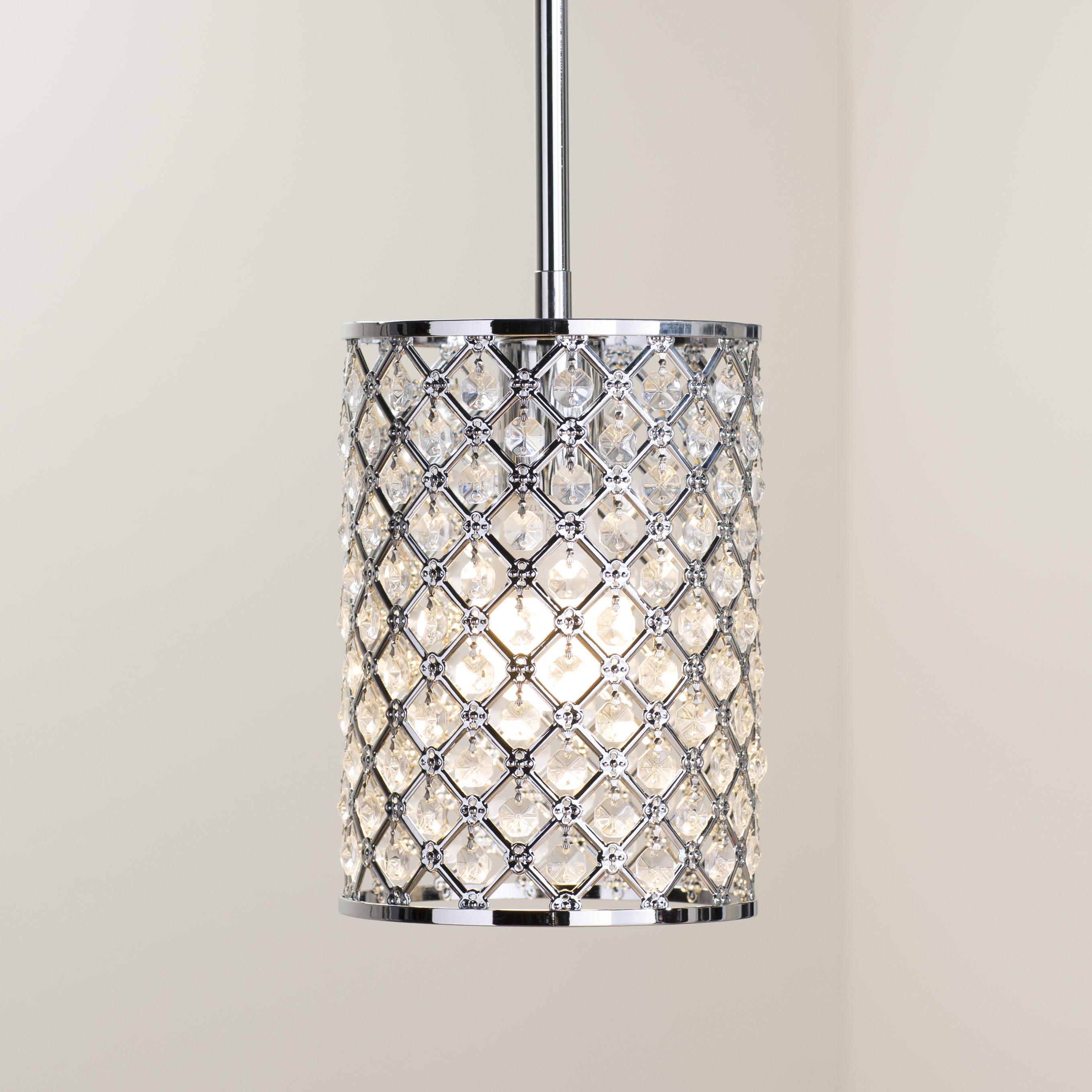 Araujo 1 Light Crystal Pendant In Hurst 1 Light Single Cylinder Pendants (View 9 of 30)