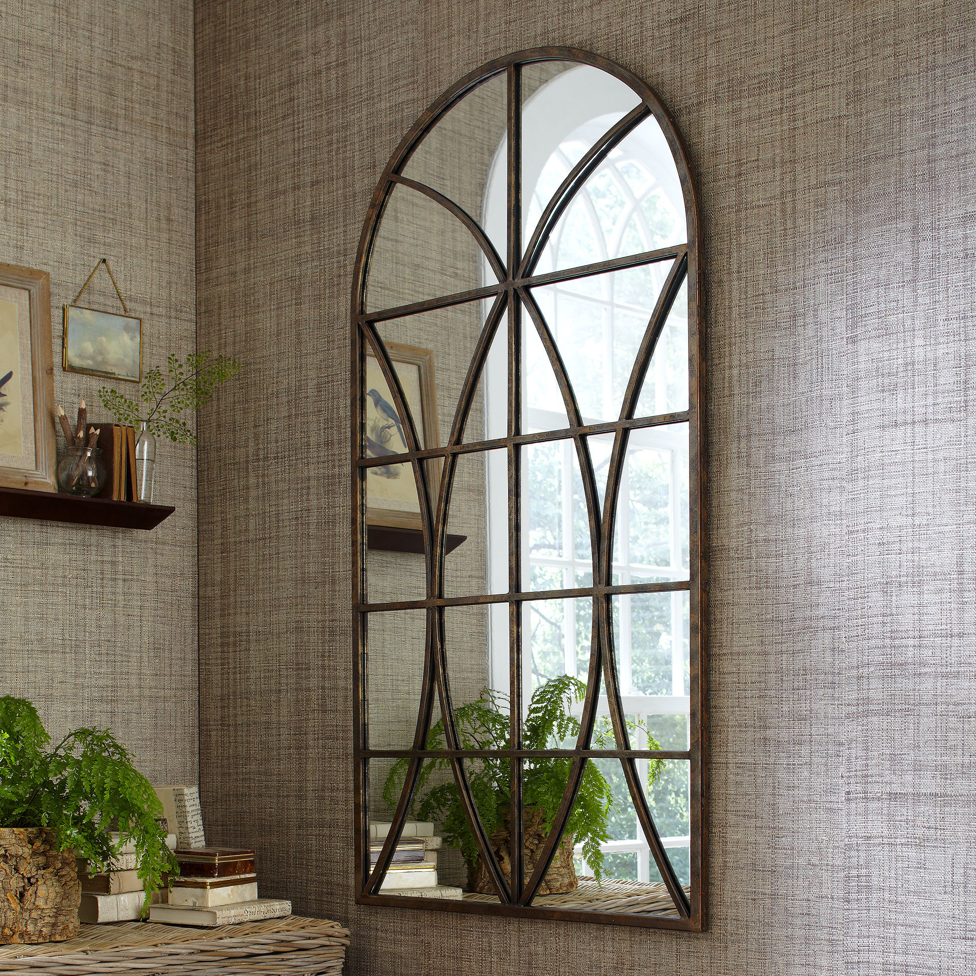 Arch / Crowned Top Wall Mirrors | Joss & Main with Arch Vertical Wall Mirrors (Image 6 of 30)