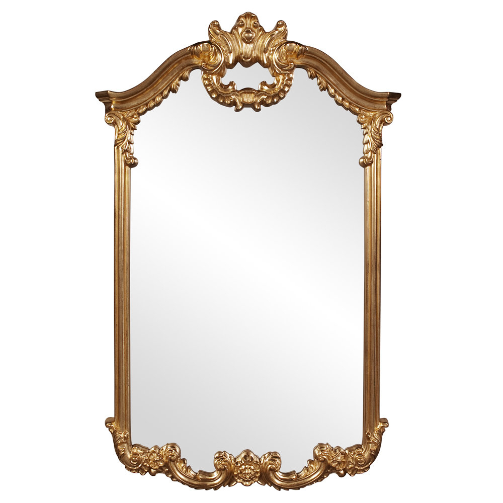 Archcrowned Top Bright Gold Wall Mirror With Regard To Gold Arch Wall Mirrors (View 6 of 30)