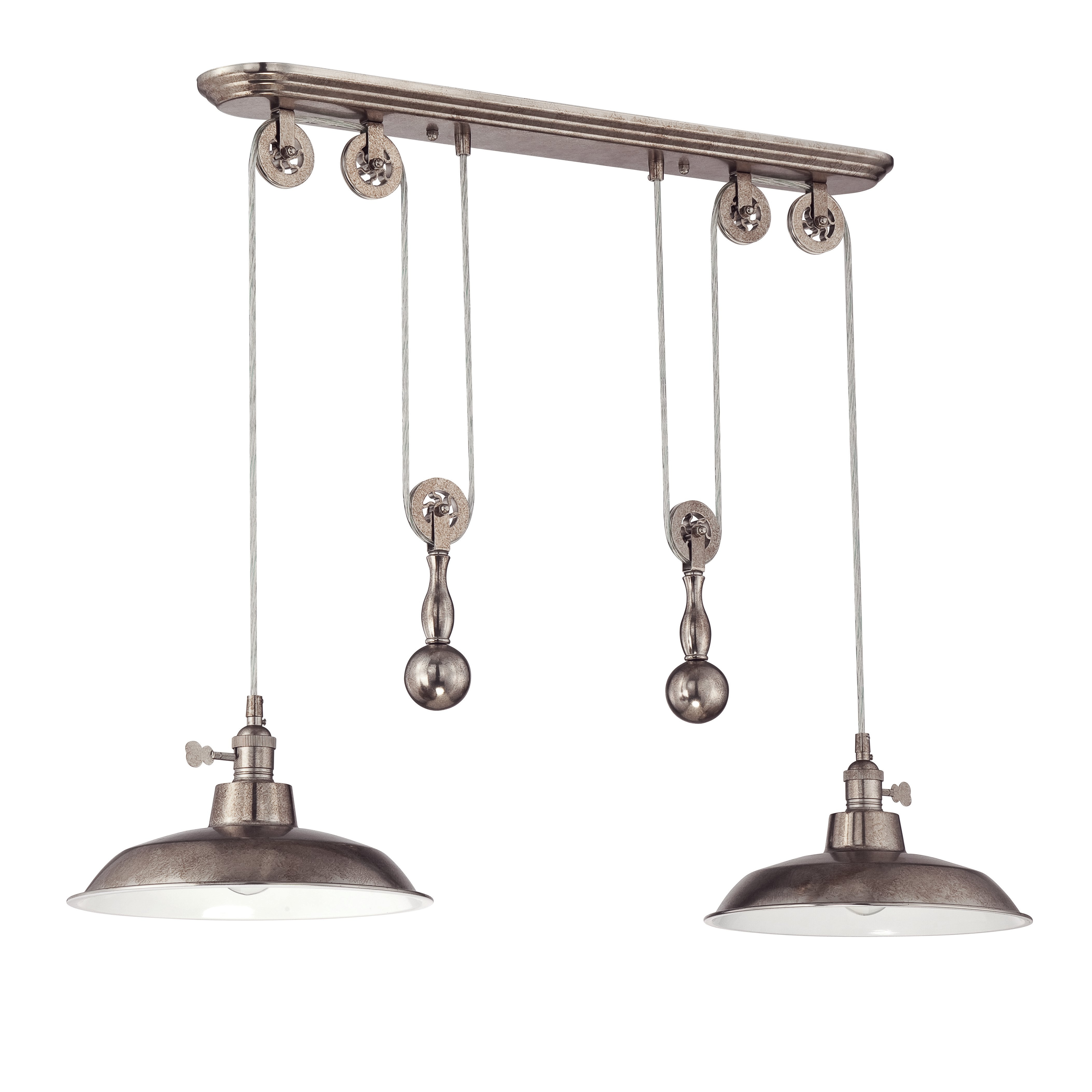 Ariel 2-Light Kitchen Island Dome Pendant inside Cinchring 4-Light Kitchen Island Linear Pendants (Image 4 of 30)