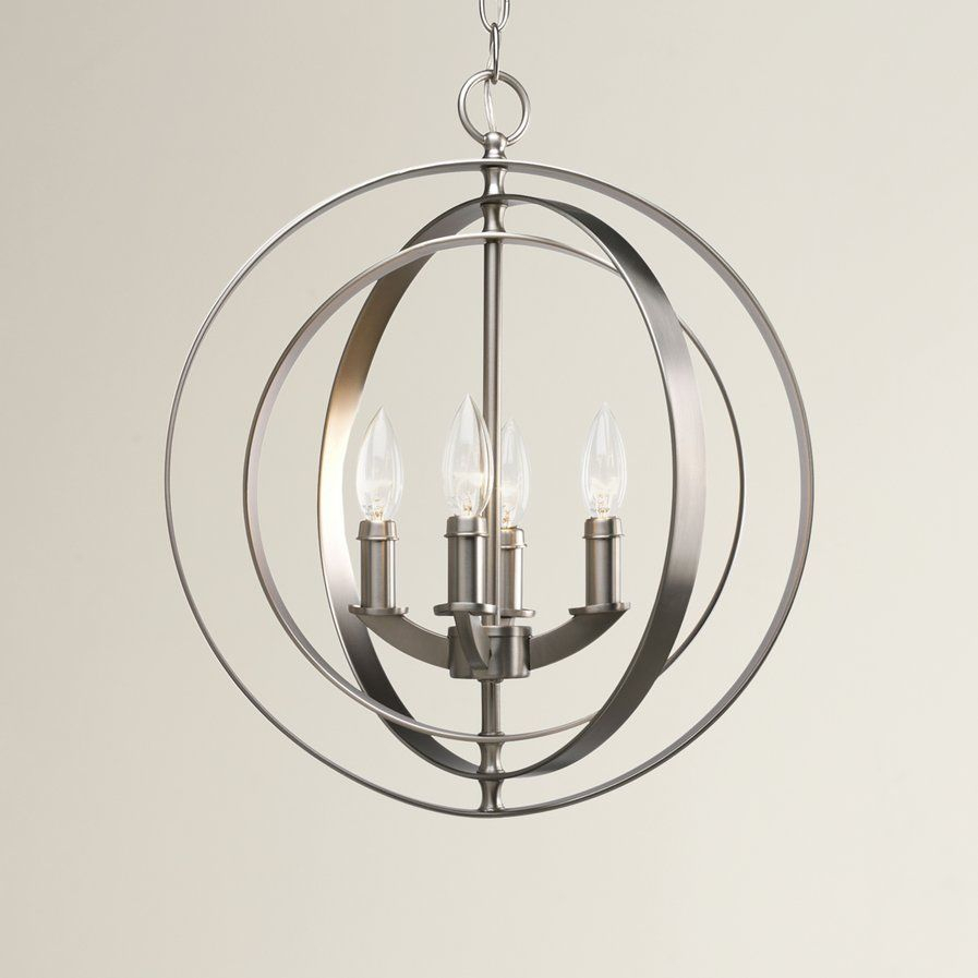 Arinda 4 Light Globe Pendant | Ideas For New House For La Barge 3 Light Globe Chandeliers (View 22 of 30)