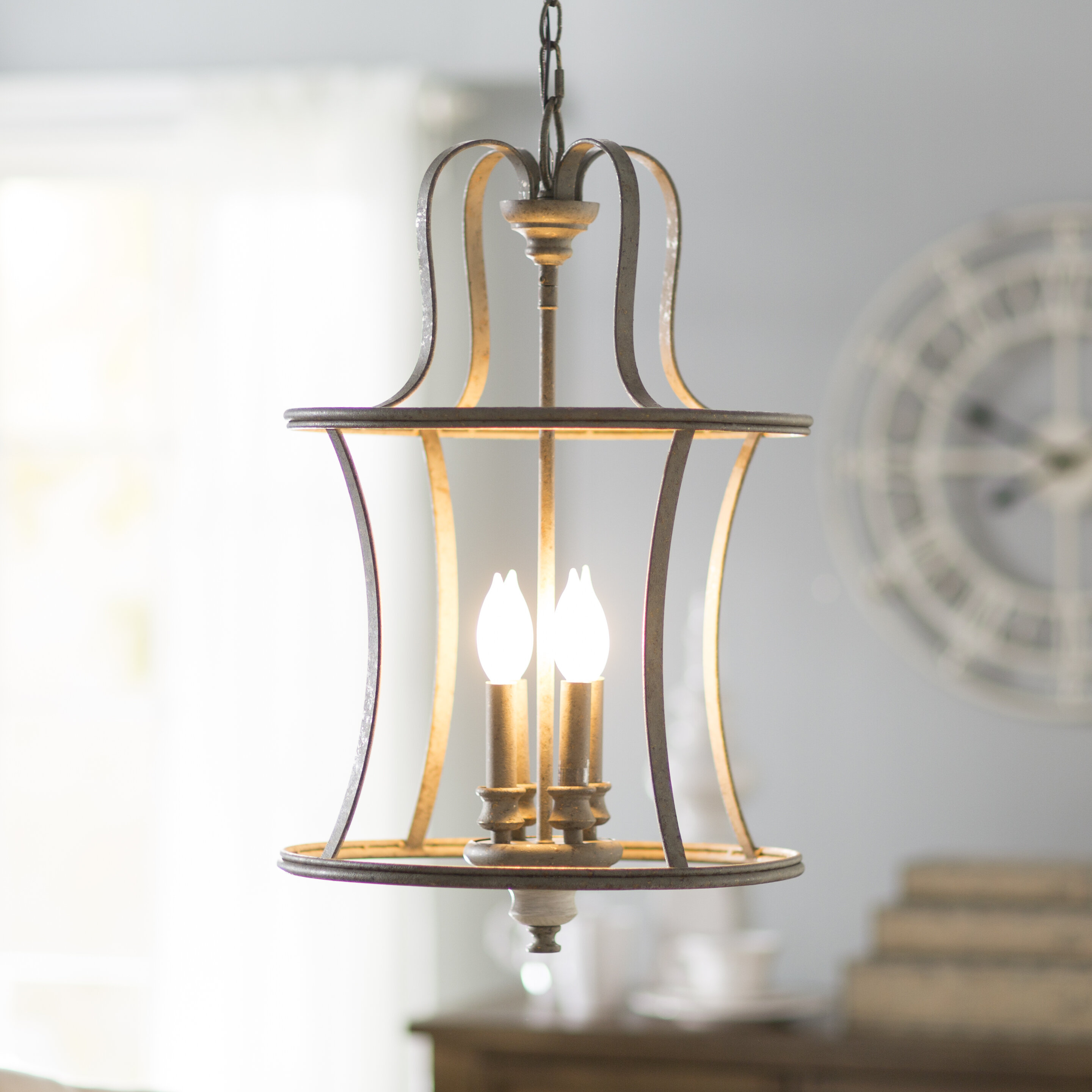 Featured Photo of Armande 3 Light Lantern Geometric Pendants