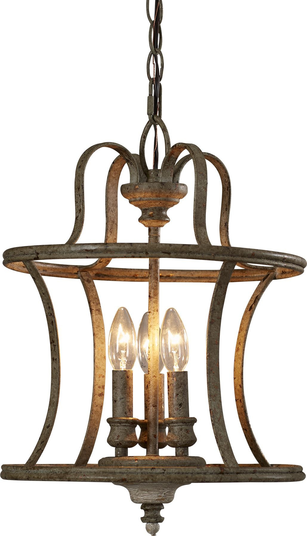 Armande 3 Light Lantern Pendant In 2019 | Foyer Lighting Intended For Armande Candle Style Chandeliers (Image 3 of 30)
