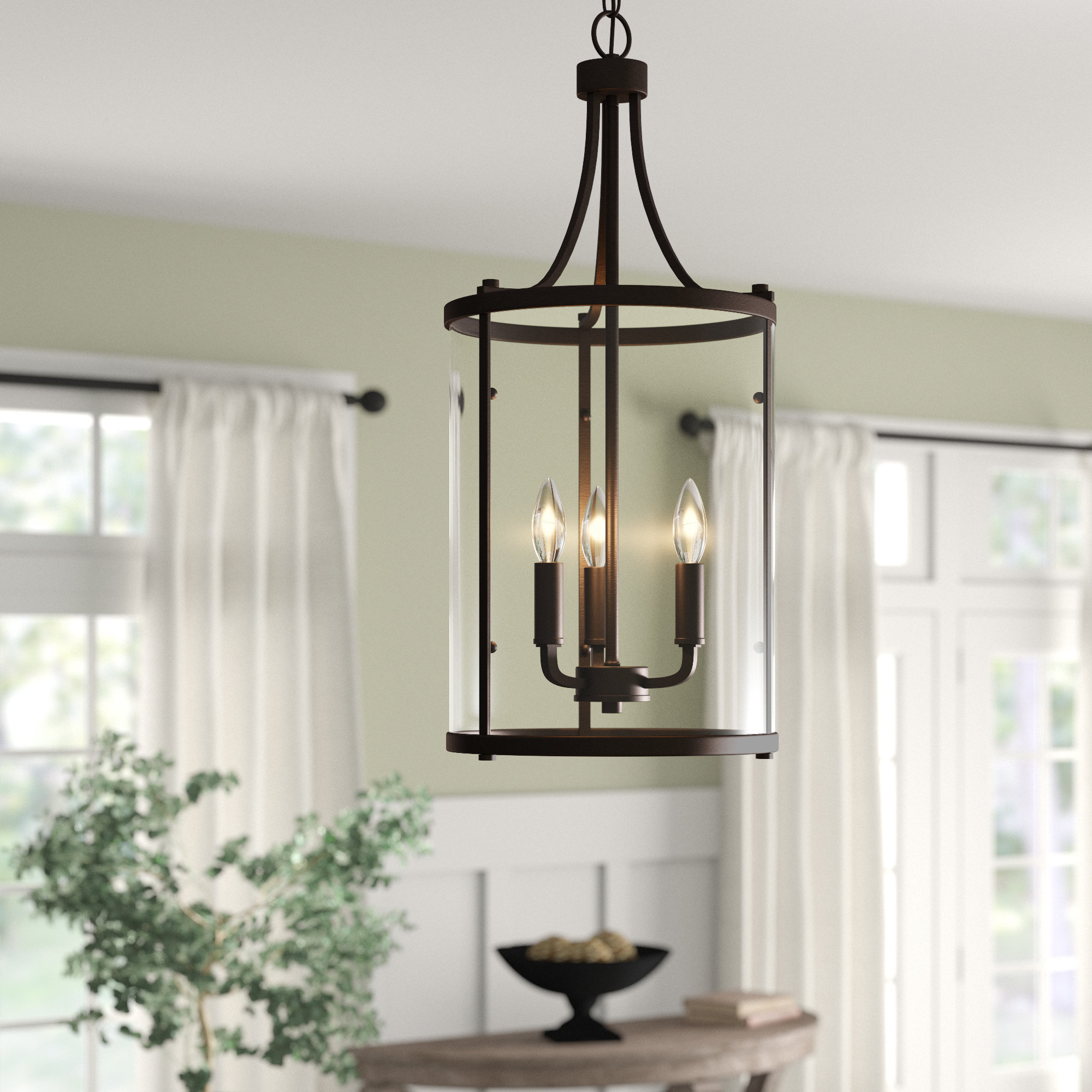 Armande 3 Light Pendant | Wayfair In Armande 4 Light Lantern Drum Pendants (View 9 of 30)