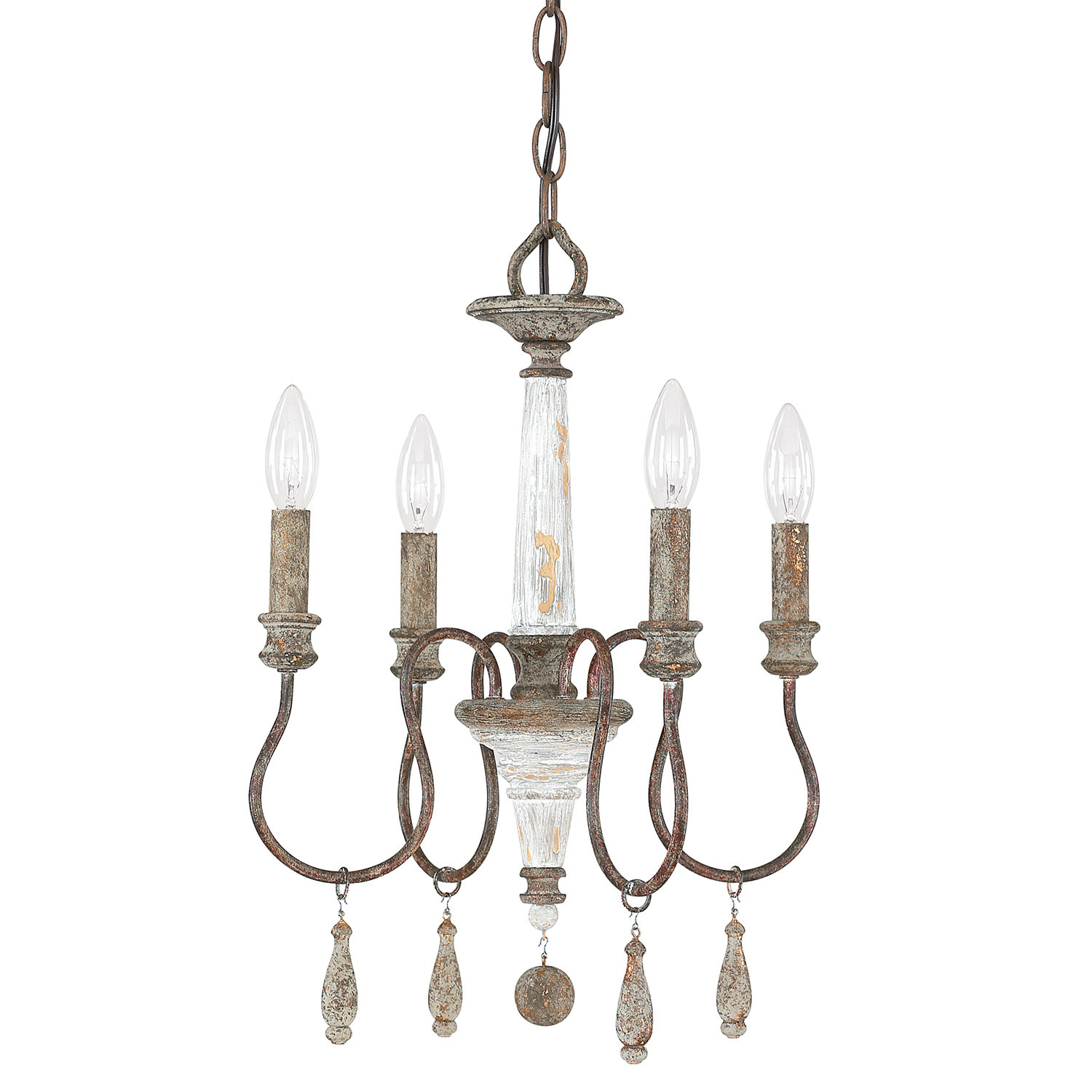 Armande Candle Style Chandelier with Armande 4-Light Lantern Drum Pendants (Image 7 of 30)
