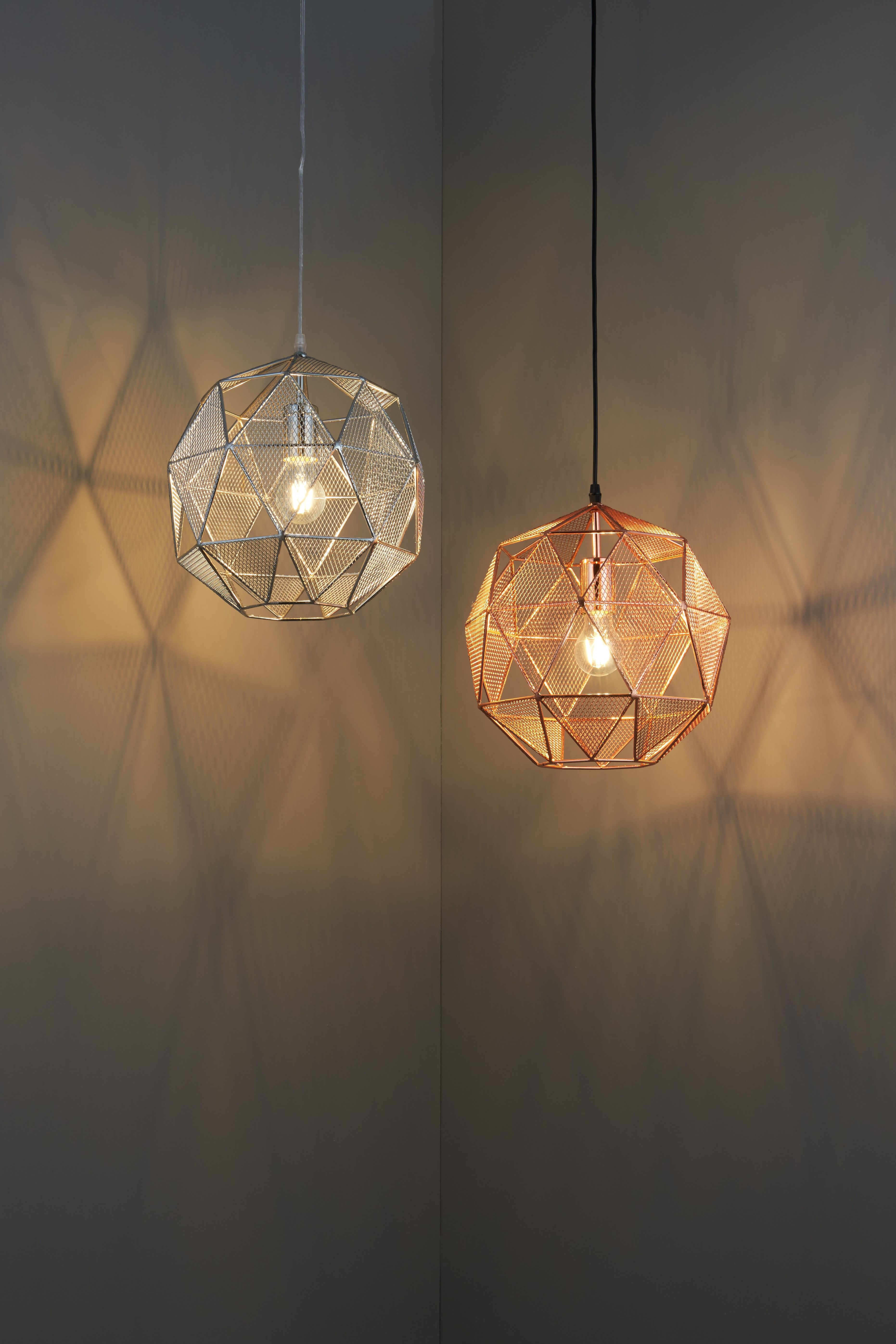 Armour 1-Light Geometric Pendant   Light In 2019   Led Lamp inside 1-Light Geometric Globe Pendants (Image 8 of 30)