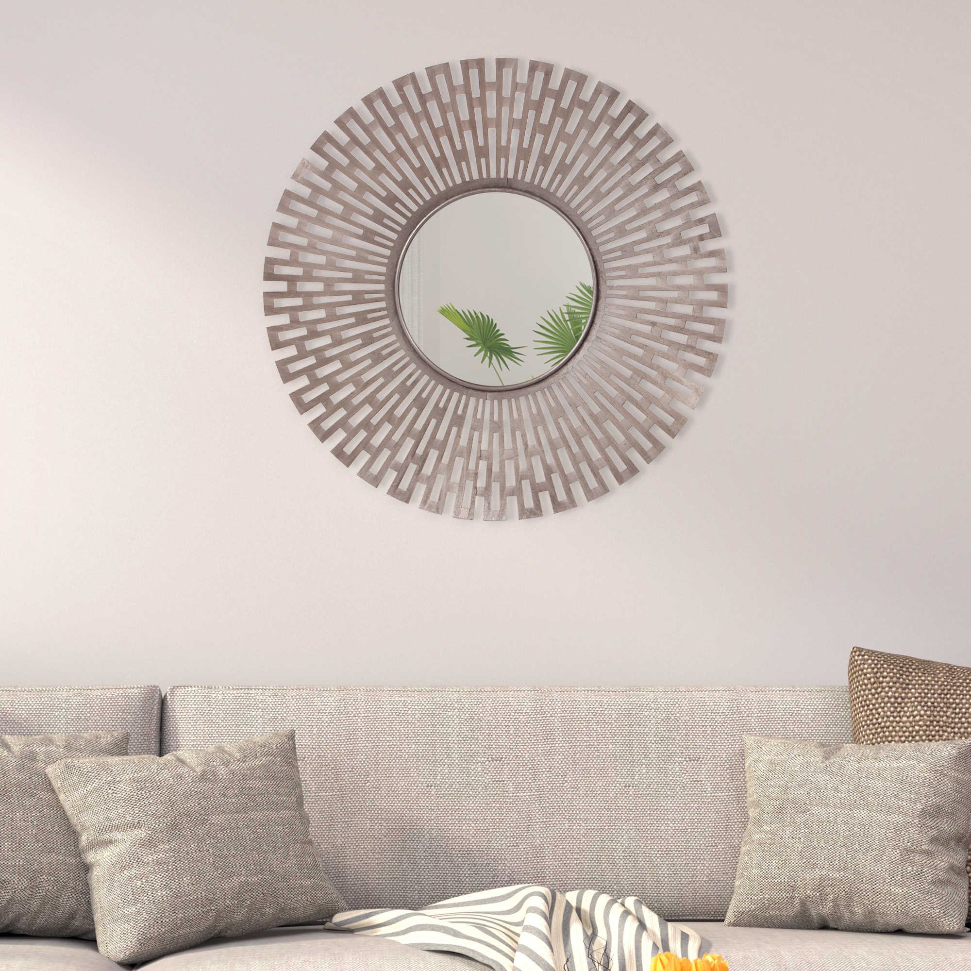 Art Scroll And Compass Mirror Silver Decor Metal Gold With Round Compass Wall Decor (View 24 of 30)