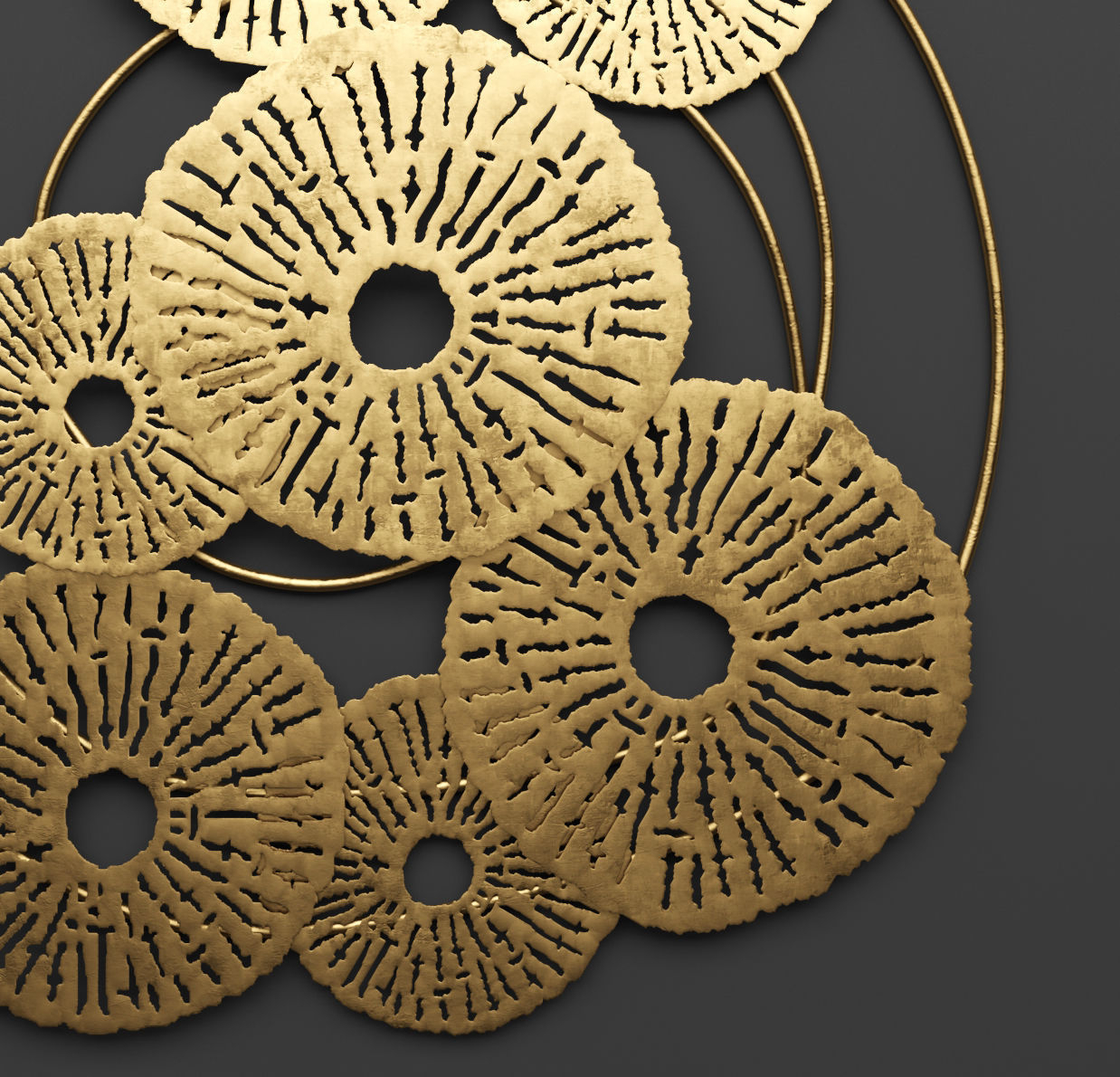 Art Scroll And Compass Mirror Silver Decor Metal Gold within Round Compass Wall Decor (Image 4 of 30)