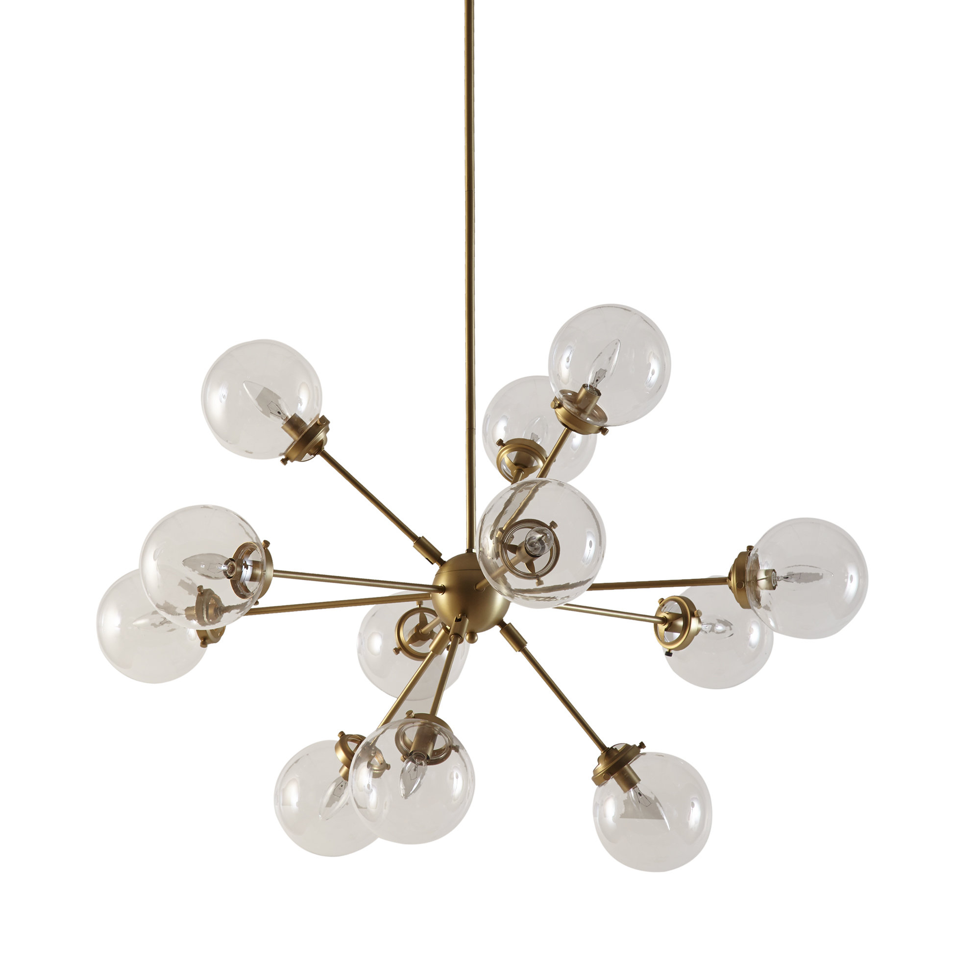Asher 12 Light Sputnik Chandelier Intended For Corona 12 Light Sputnik Chandeliers (View 11 of 30)