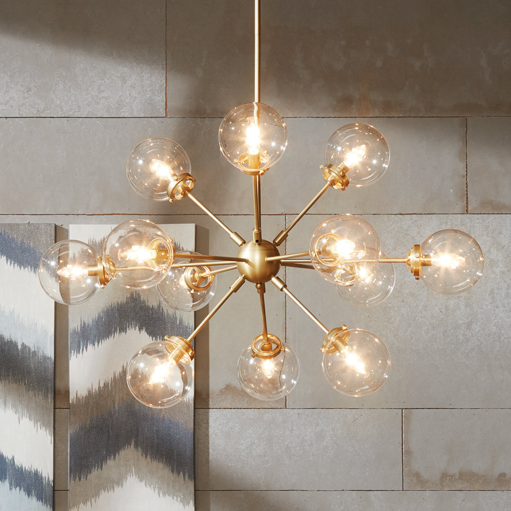 Asher 12-Light Sputnik Chandelier & Reviews | Joss & Main with Asher 12-Light Sputnik Chandeliers (Image 4 of 30)