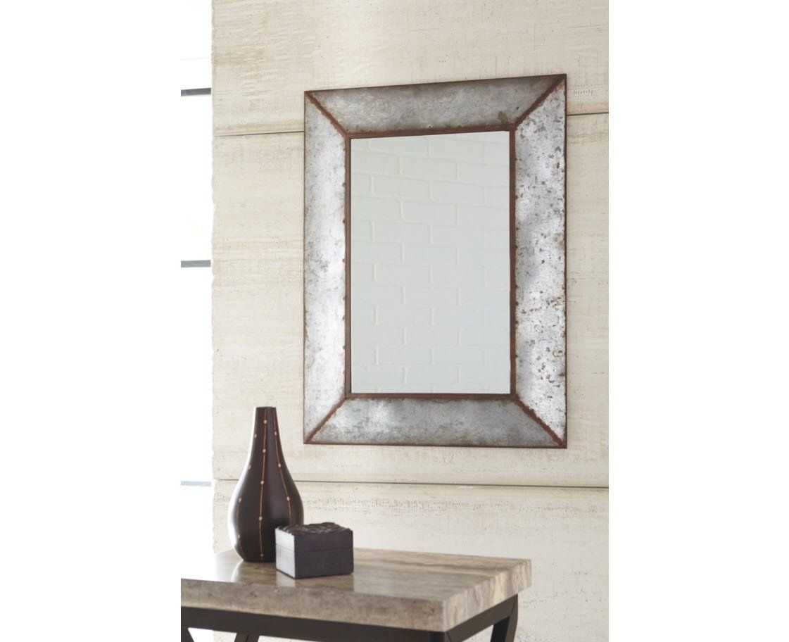 Ashley Furniture Signature Design Otalley Metal Framed inside Bartolo Accent Mirrors (Image 6 of 30)