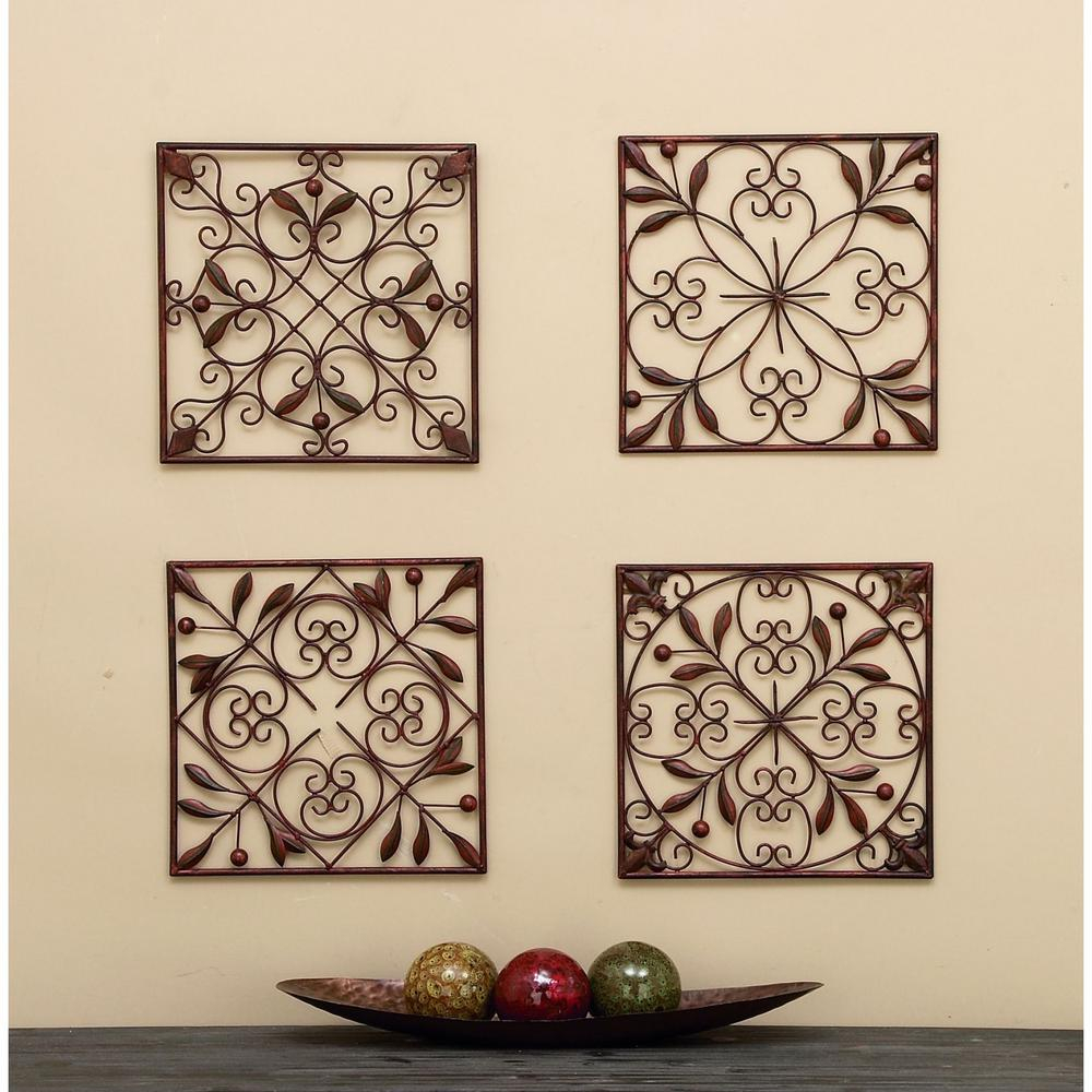 Assorted In Leaf Scroll Wall Plaques Set Of The Stencil Within Scroll Leaf Wall Decor (View 10 of 30)