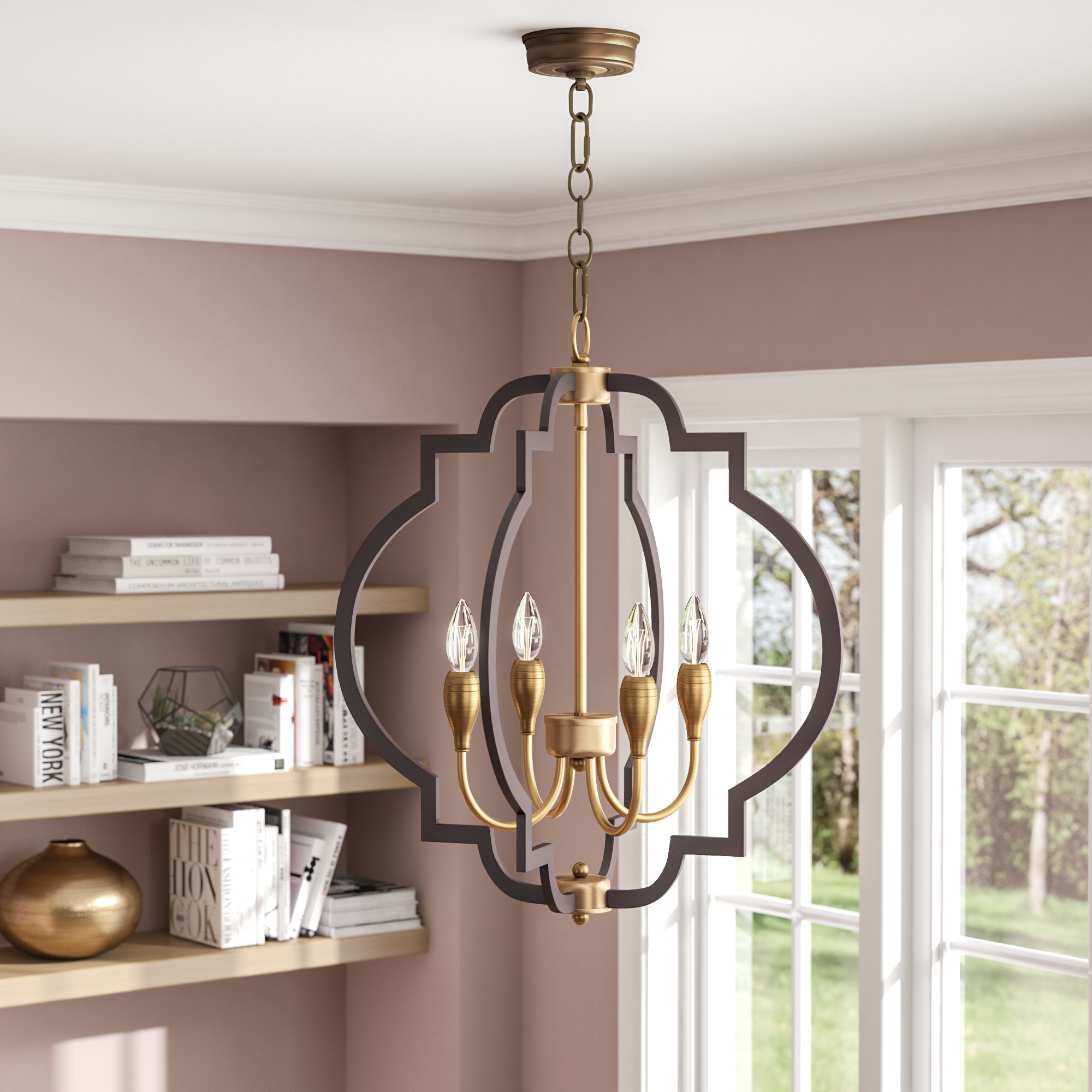 Astin 4 Light Geometric Chandelier Pertaining To Bennington 4 Light Candle Style Chandeliers (View 8 of 30)