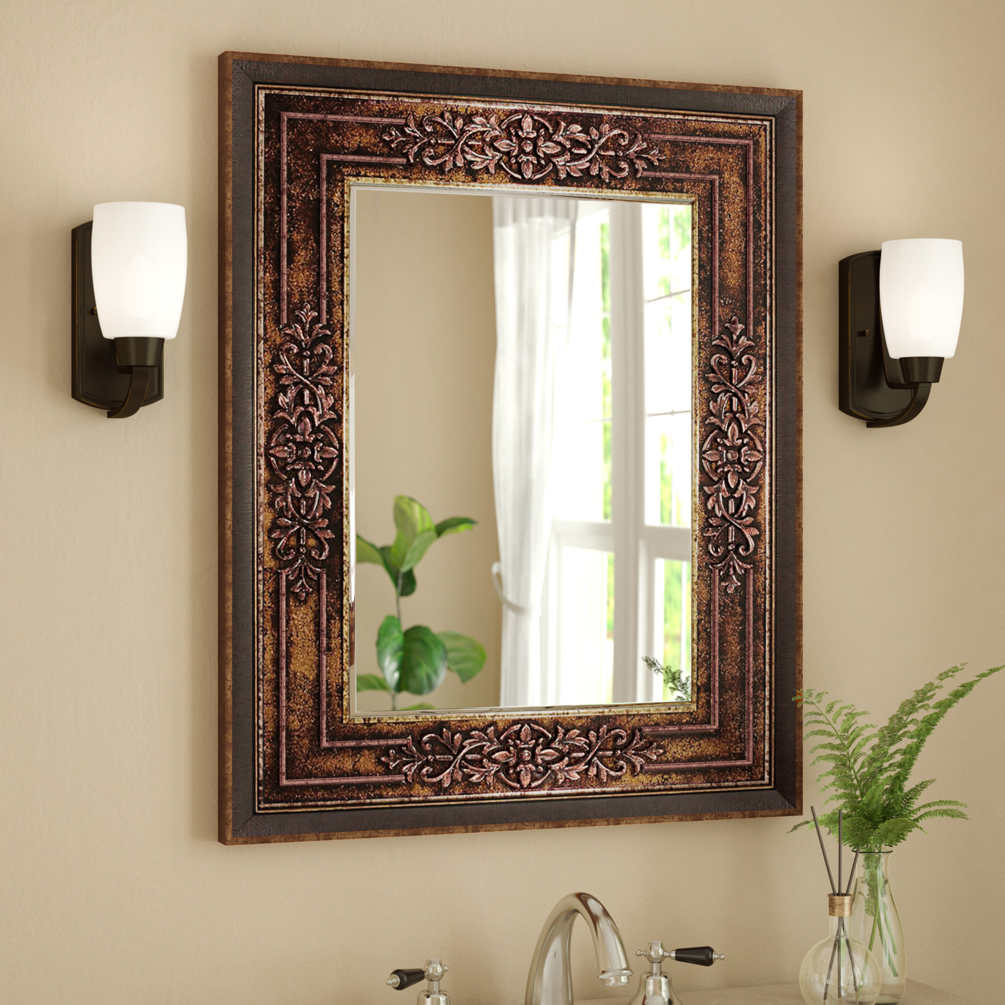 Astoria Grand Bathroom/vanity Mirror & Reviews | Wayfair intended for Boyers Wall Mirrors (Image 3 of 30)