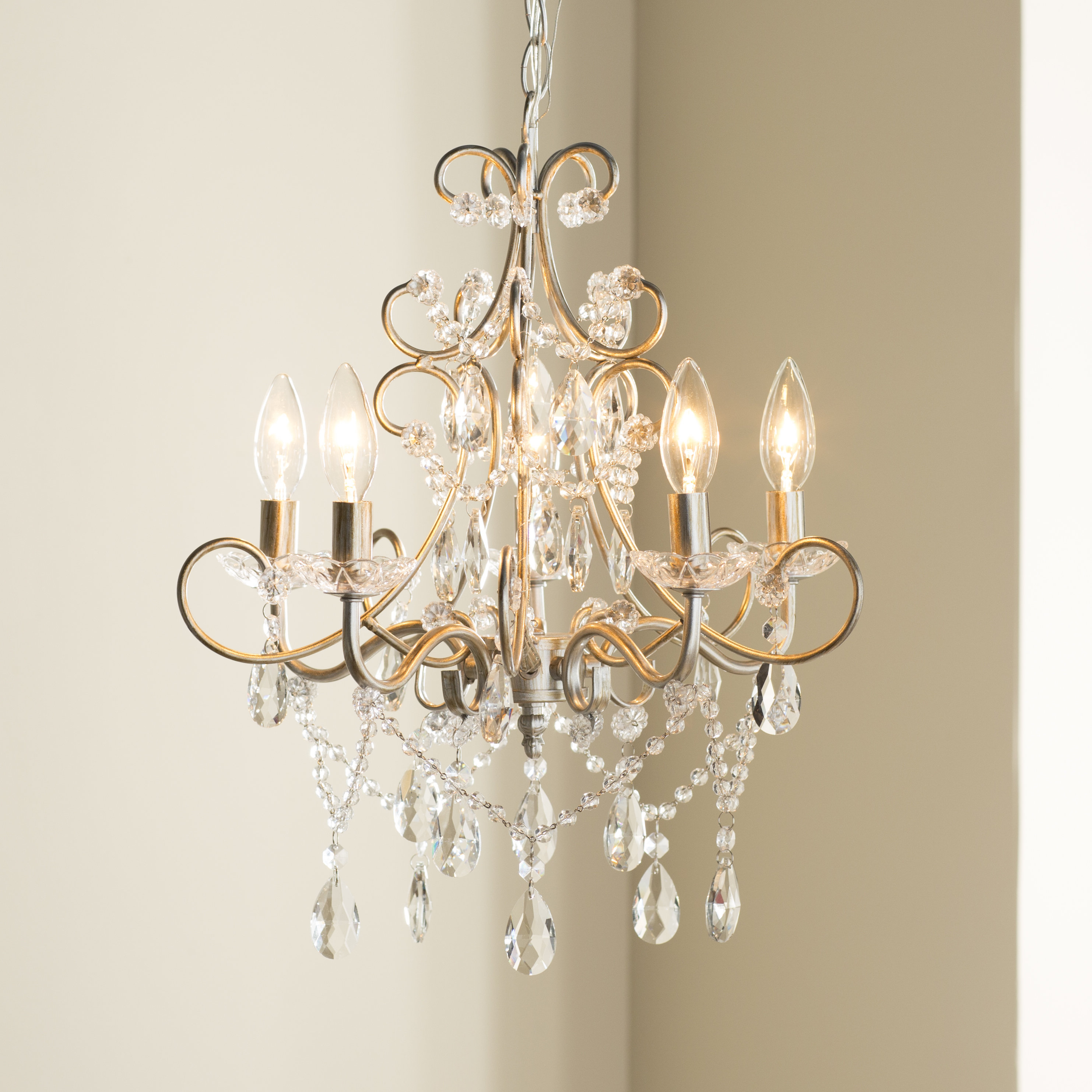 Astoria Grand Blanchette 5 Light Candle Style Chandelier Intended For Hesse 5 Light Candle Style Chandeliers (View 15 of 30)