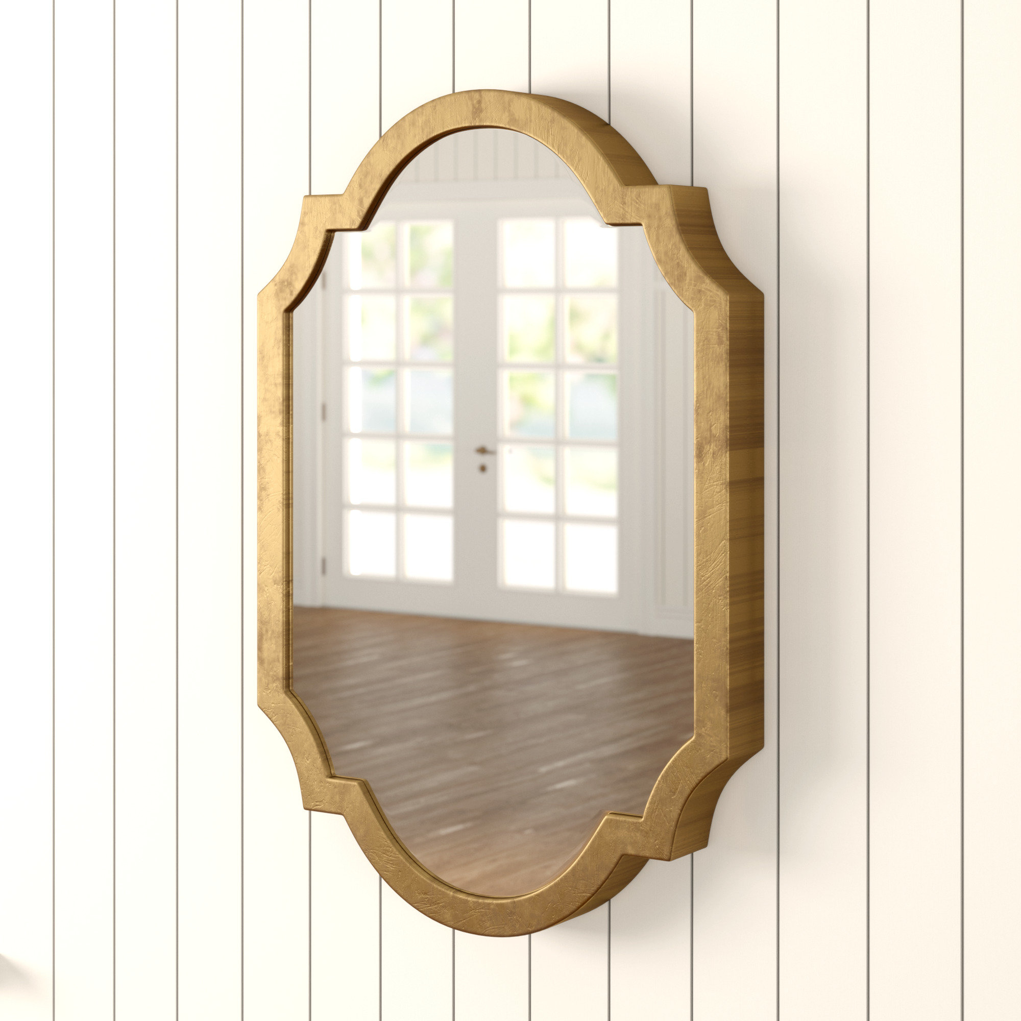 Astrid Modern & Contemporary Accent Mirror Inside Ekaterina Arch/crowned Top Wall Mirrors (View 21 of 30)