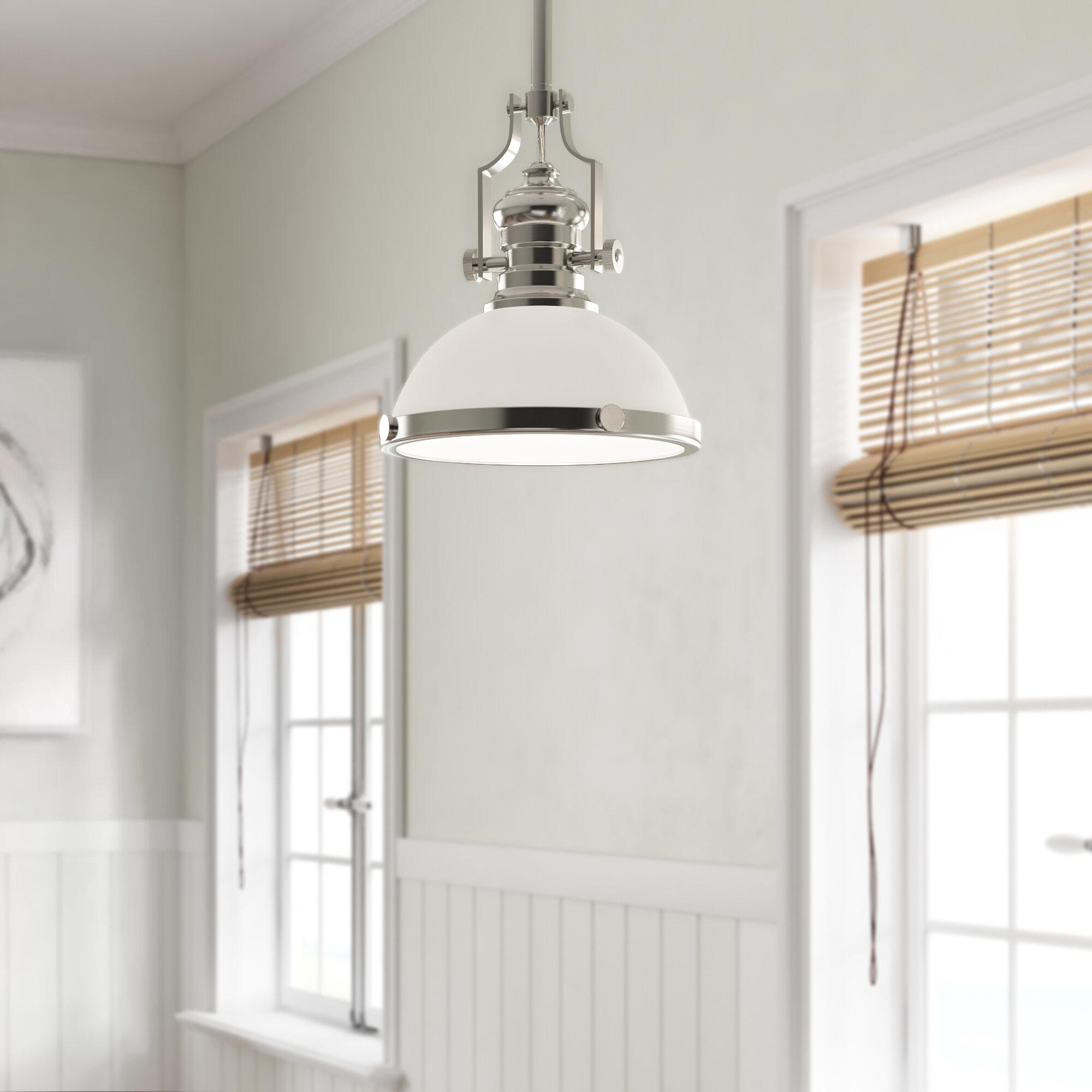 Attles 1 Light Dome Pendant – Inspirational Lighting Design within Macon 1-Light Single Dome Pendants (Image 9 of 30)