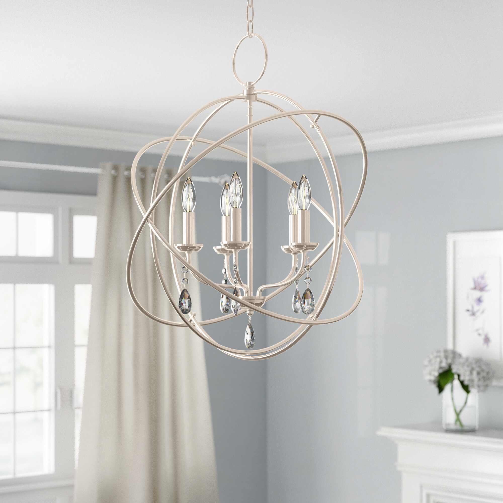Auberta 5 Light Globe Chandelier With Verlene Foyer 5 Light Globe Chandeliers (View 5 of 30)