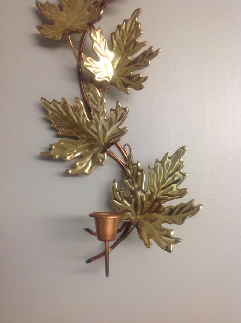 Aufregend Wall Art Metal Leaves Nautical Branch Flowers for Leaves Metal Sculpture Wall Decor (Image 6 of 30)