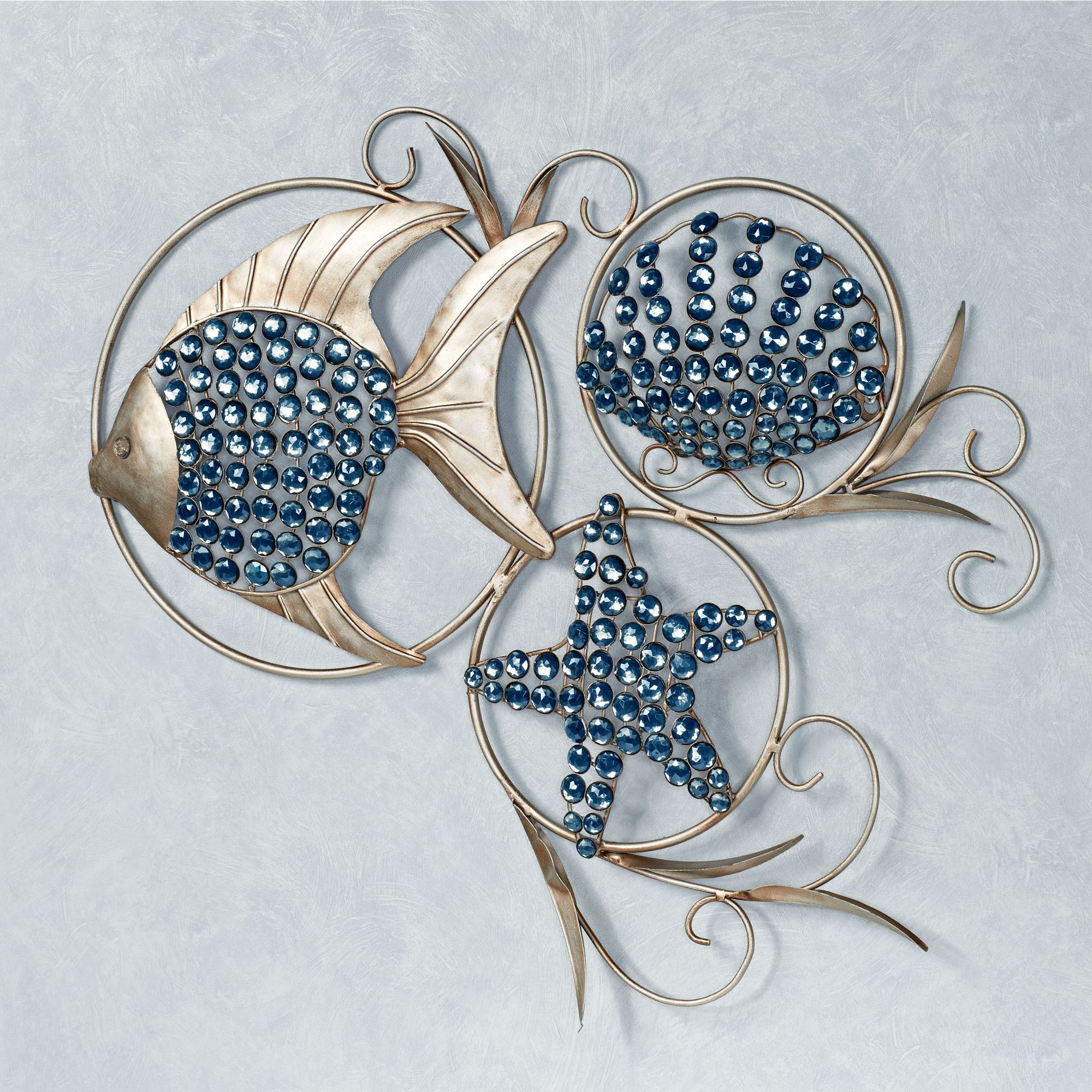 Aufregend Wall Art Metal Leaves Nautical Branch Flowers Intended For Tree Shell Leaves Sculpture Wall Decor (View 16 of 30)