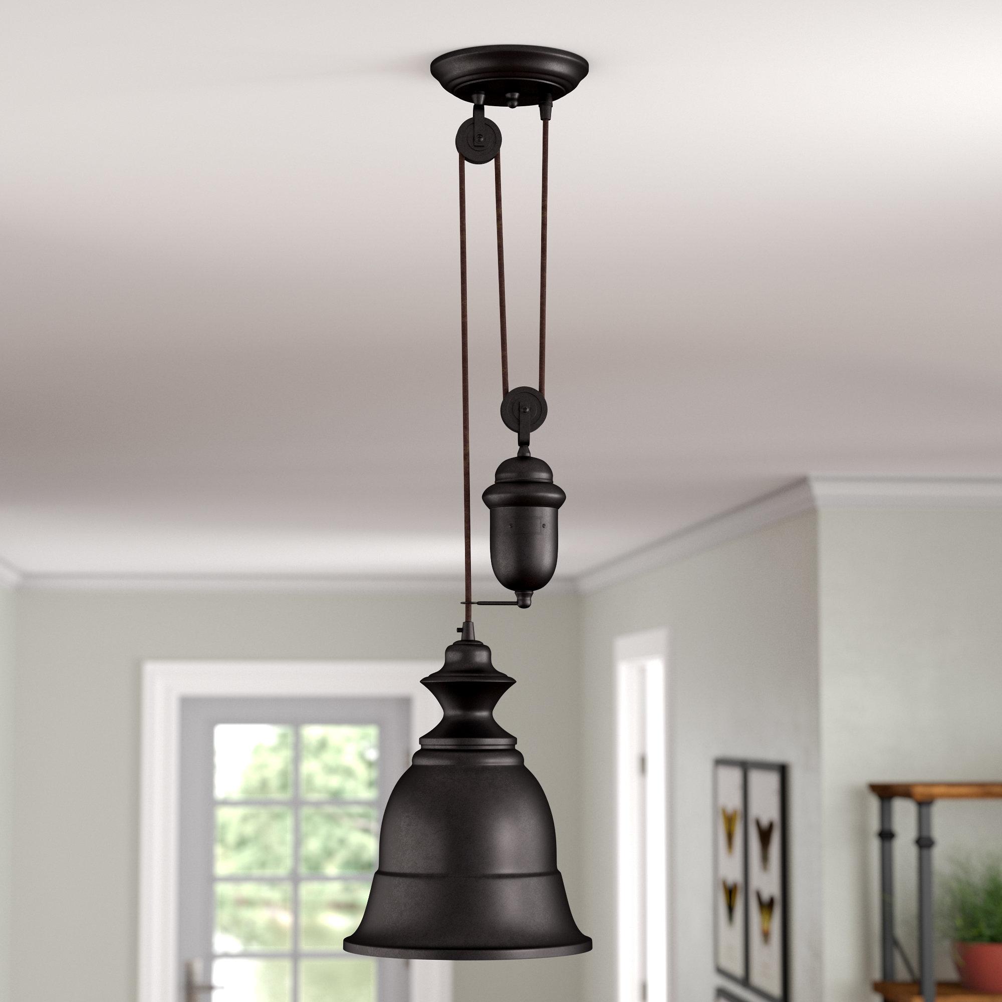August Grove Elsenborn 1 Light Single Bell Pendant Within Erico 1 Light Single Bell Pendants (View 9 of 30)
