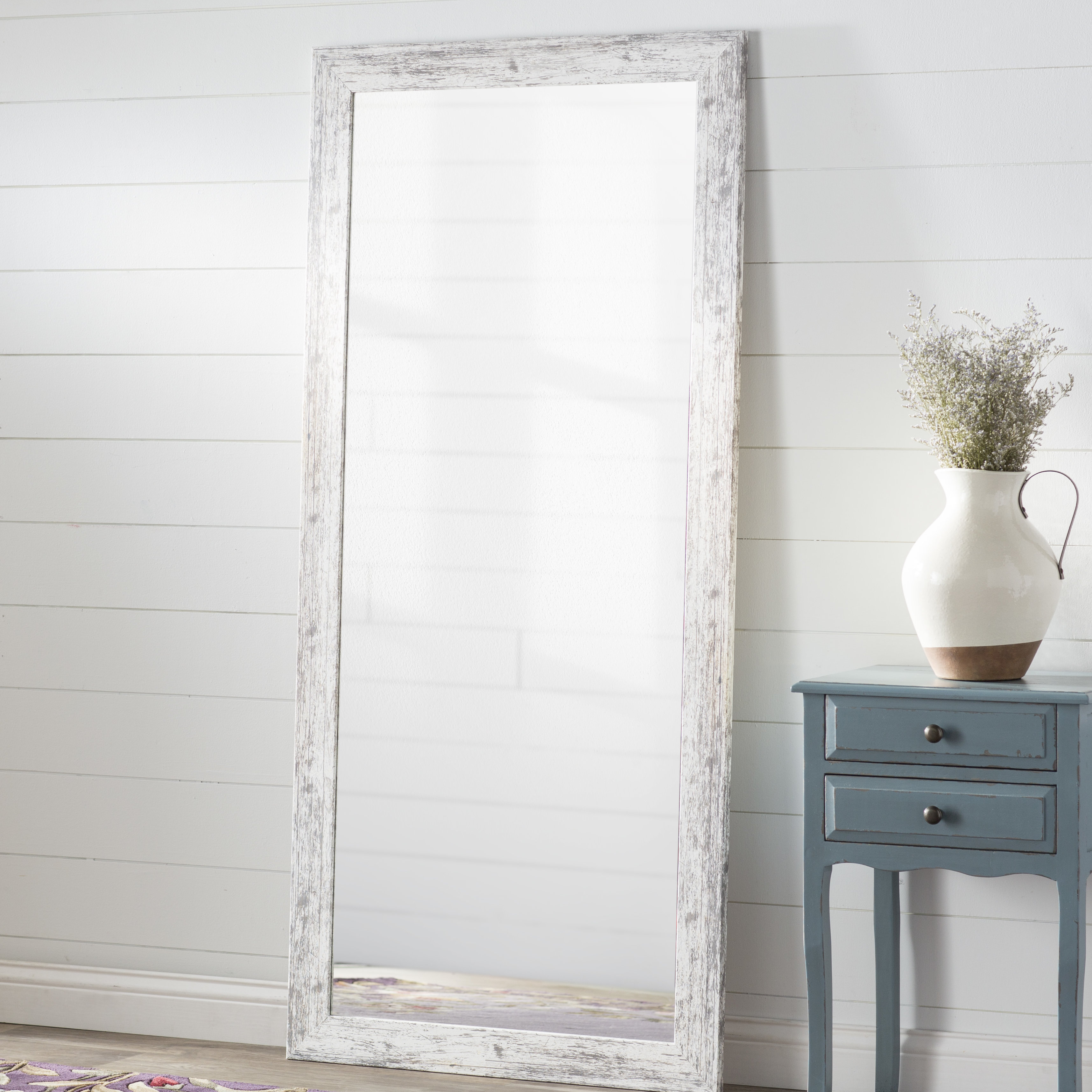 Popular Photo of Handcrafted Farmhouse Full Length Mirrors