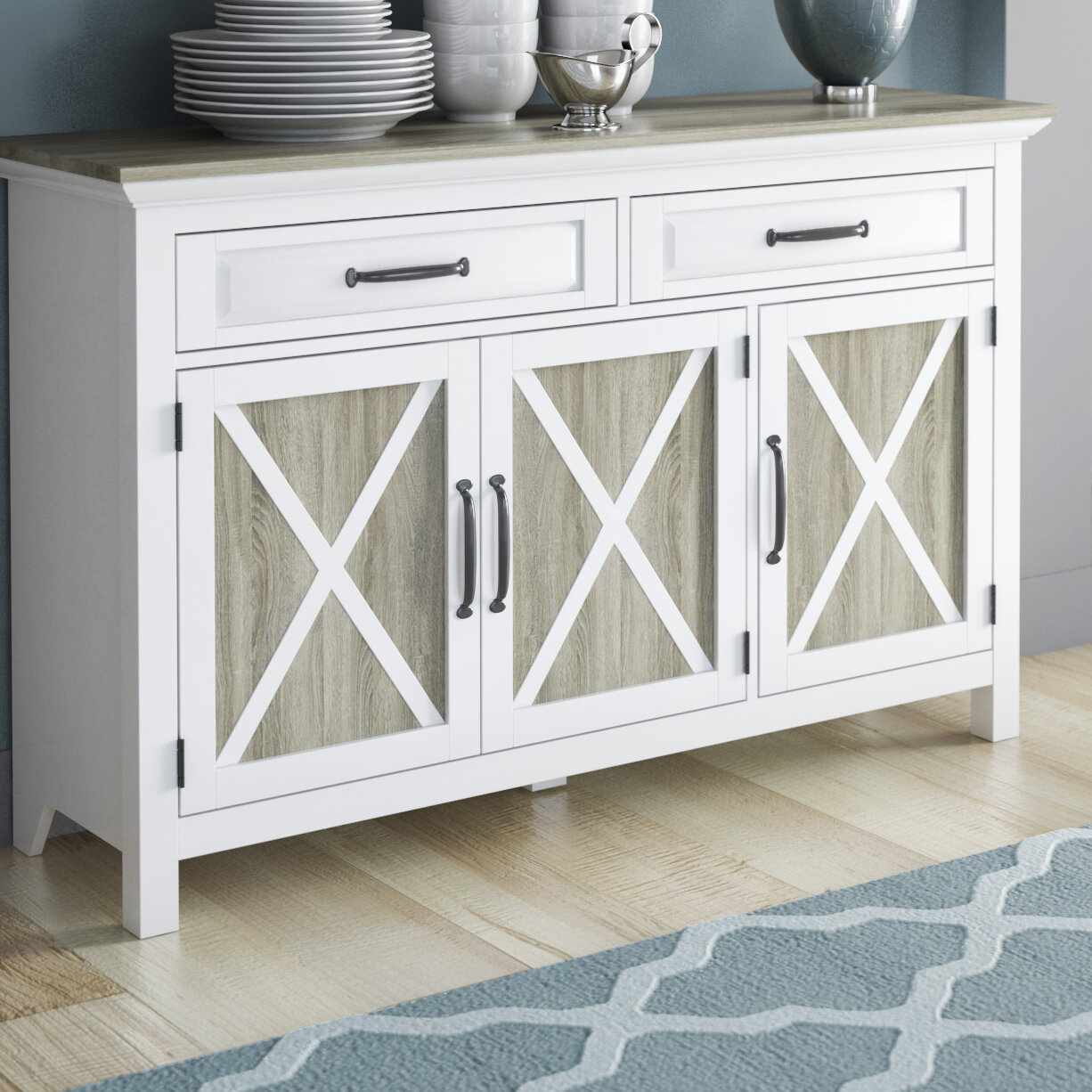 August Grove Haverly Sideboard & Reviews | Wayfair Regarding Rutherford Sideboards (View 4 of 30)
