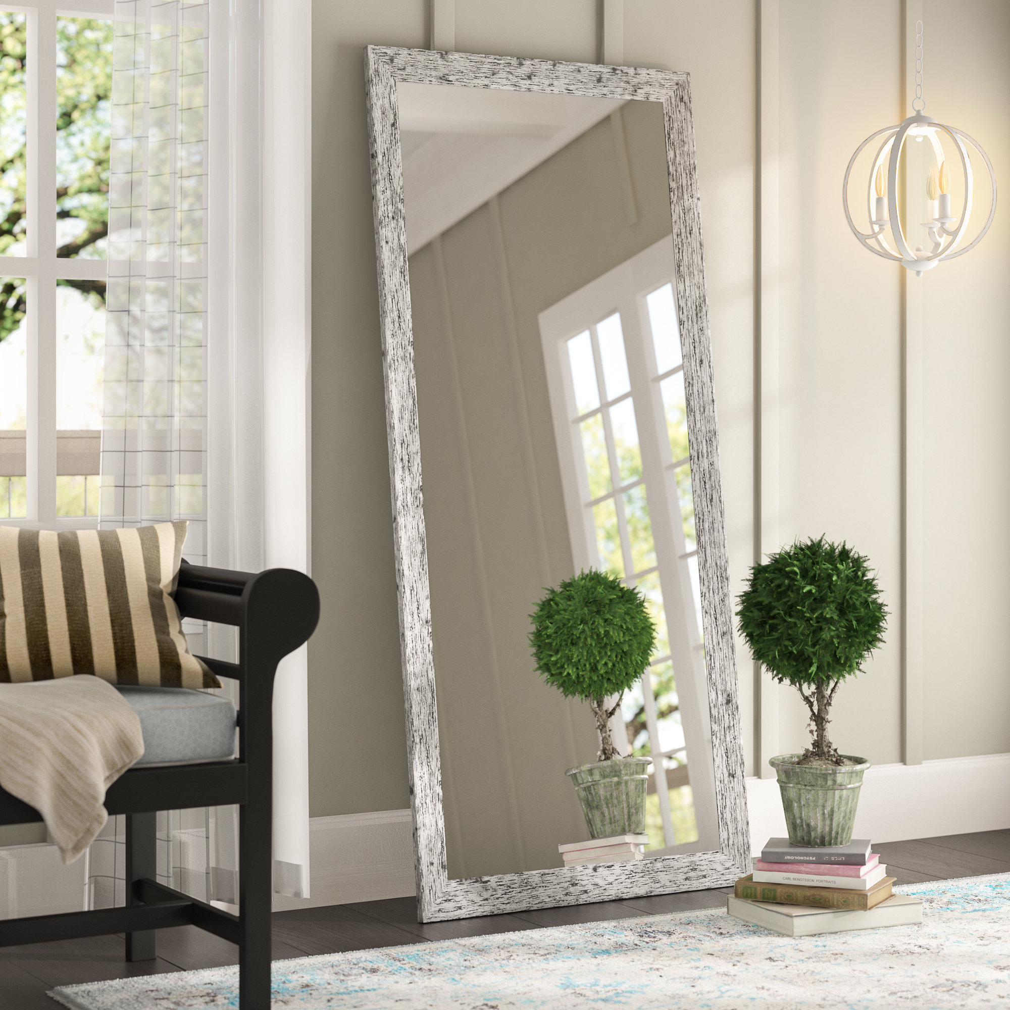 August Grove Pandit Full Length Mirror & Reviews | Wayfair For Handcrafted Farmhouse Full Length Mirrors (View 5 of 30)
