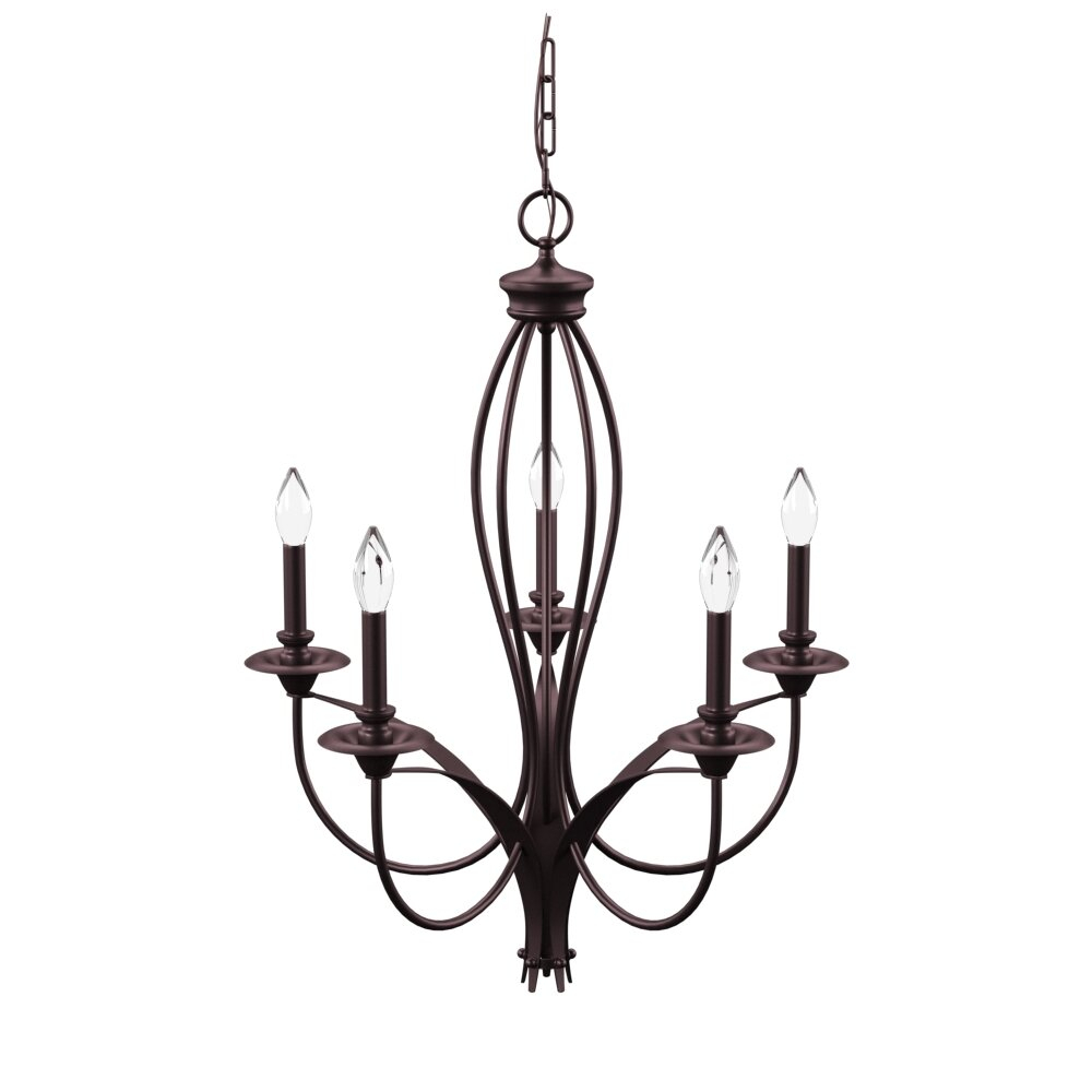 August Grove Tarres 5-Light Candle Style Chandelier pertaining to Camilla 9-Light Candle Style Chandeliers (Image 4 of 30)