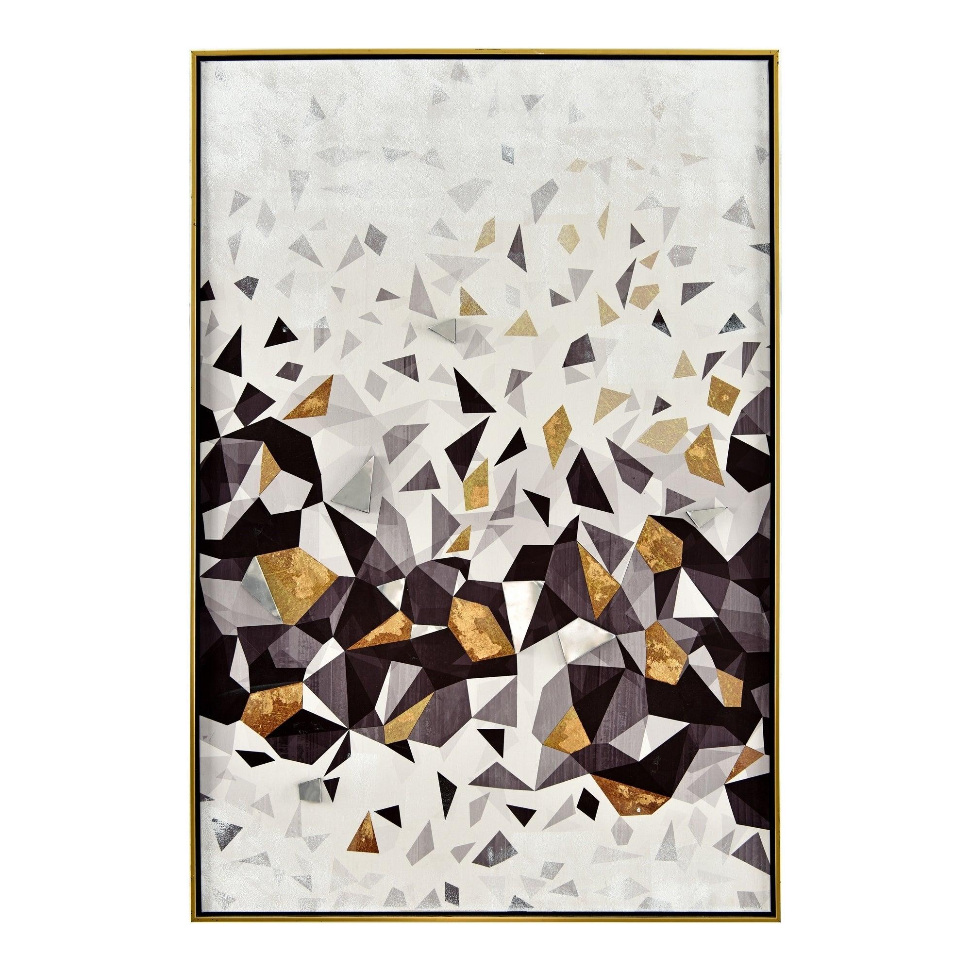 Aurelle Home Contemporary Geometric Framed Canvas Wall Decor for Contemporary Geometric Wall Decor (Image 3 of 30)
